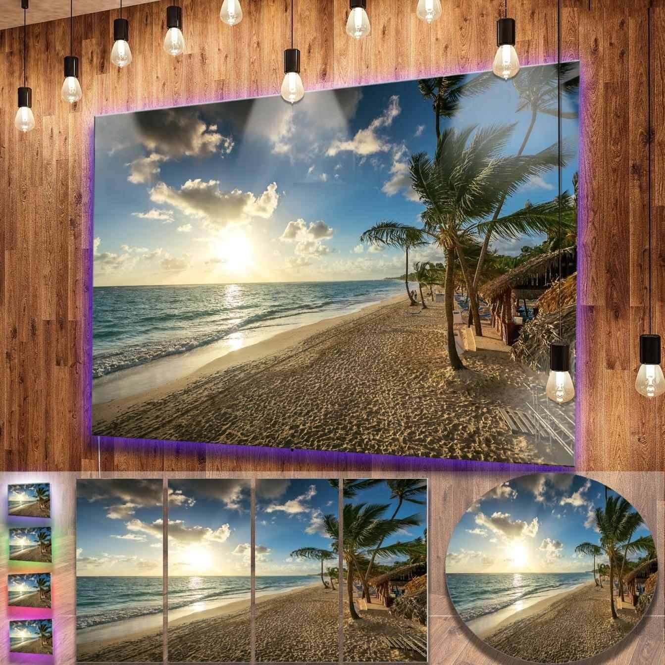Class Designart Caribbean Metal Wall Art Sand Of Beach In Blue Within 2018 Caribbean Metal Wall Art (View 7 of 20)