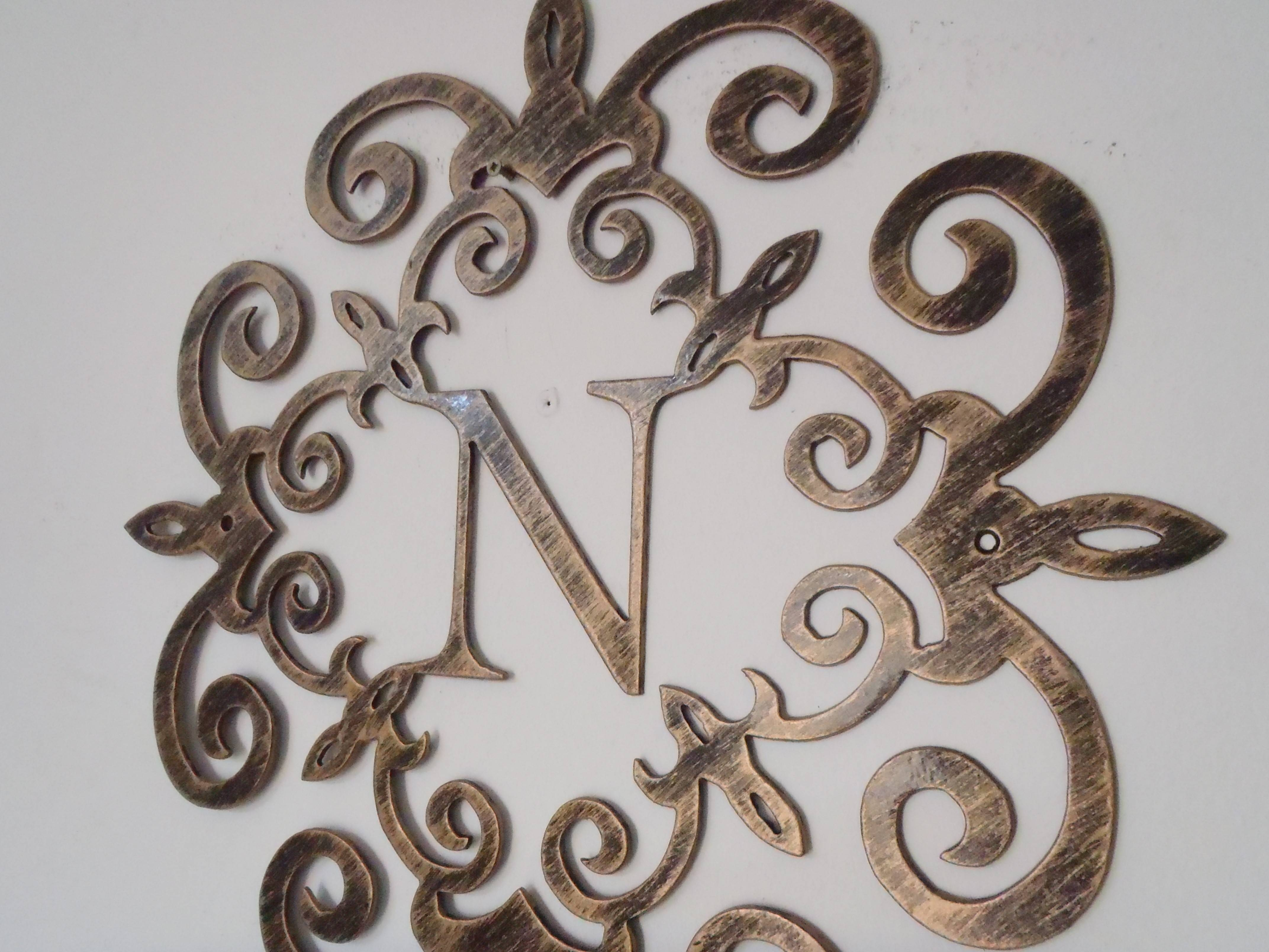 Classy 30+ Metal Monogram Wall Art Decorating Inspiration Of Metal Within 2018 Monogram Metal Wall Art (View 16 of 20)