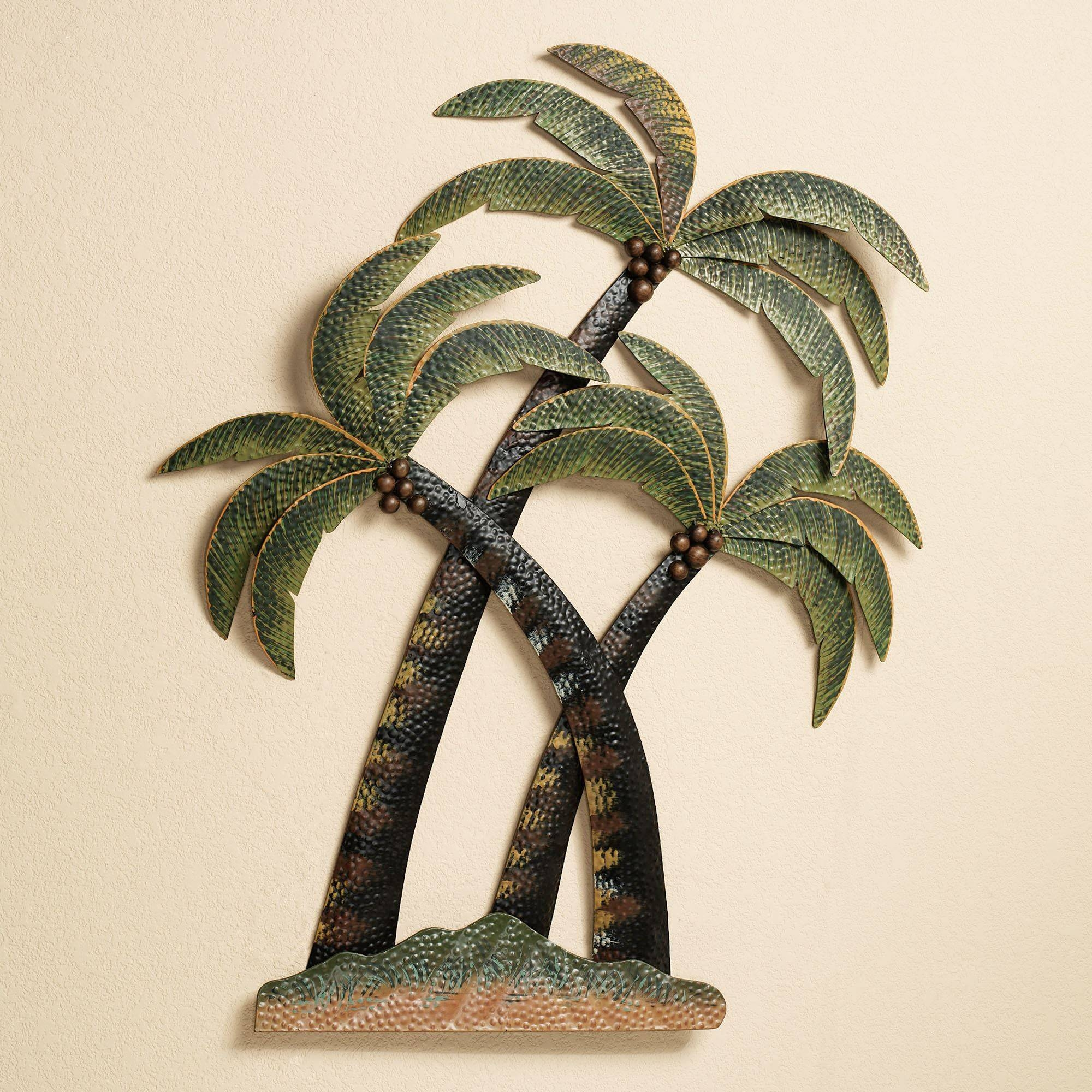 Coco Palm Tree Metal Wall Sculpture With Most Current Metal Wall Art Palm Trees (View 1 of 20)