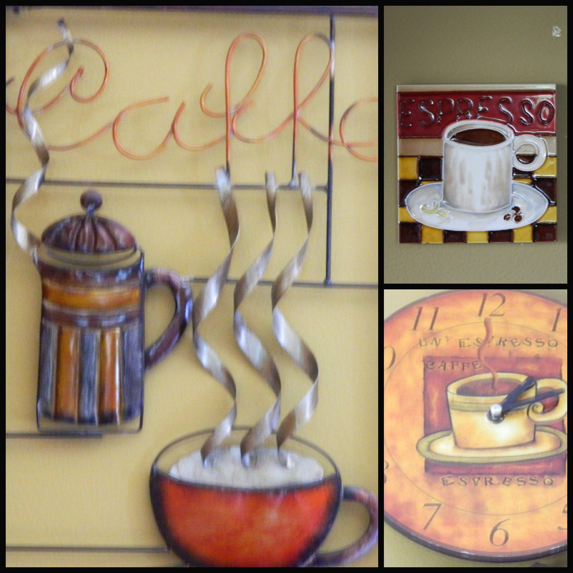 Coffee Themed Kitchen Inside Most Recent Coffee Cup Metal Wall Art (View 8 of 20)