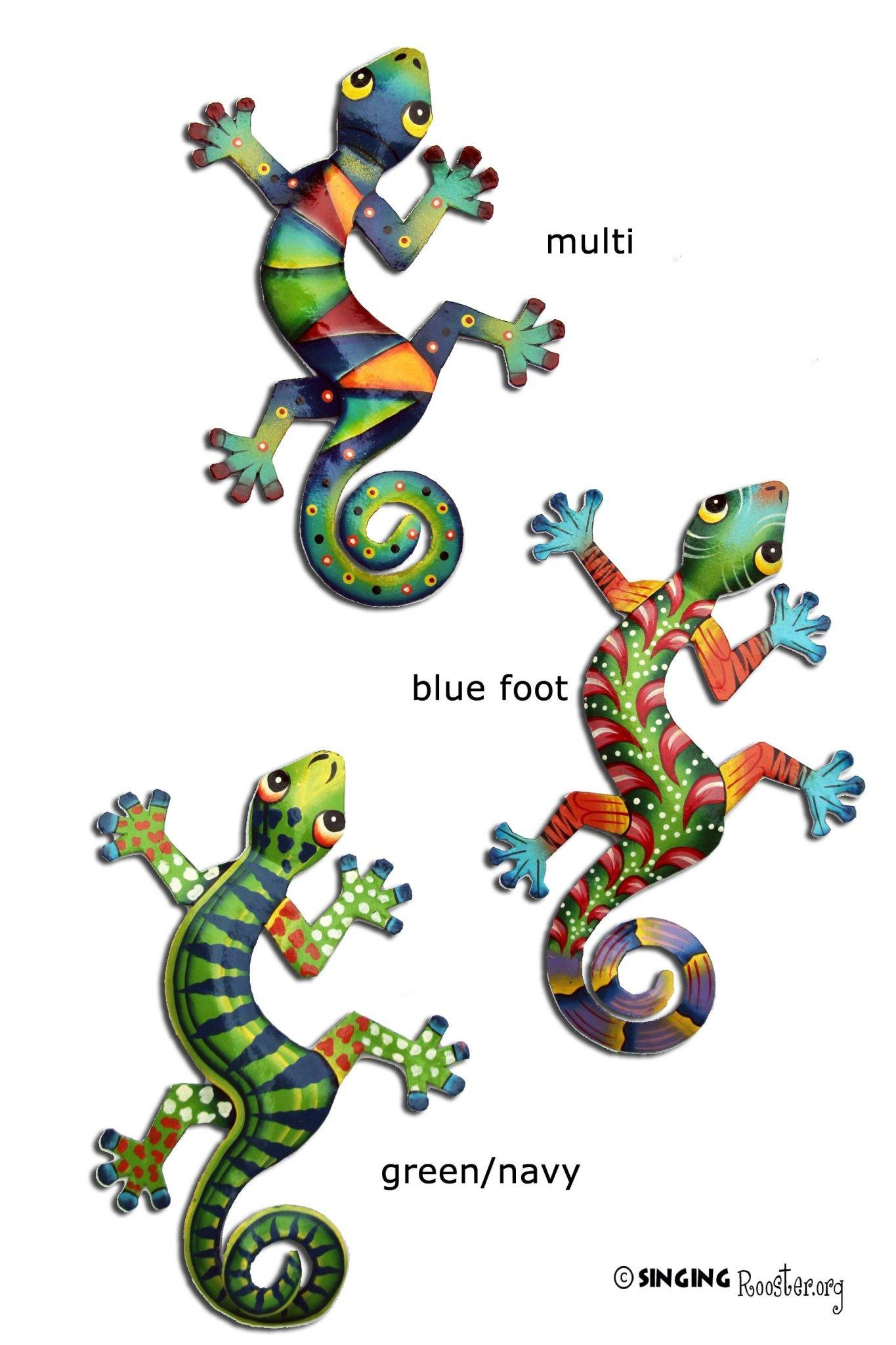 Colorful Gecko Wall Art (View 3 of 20)