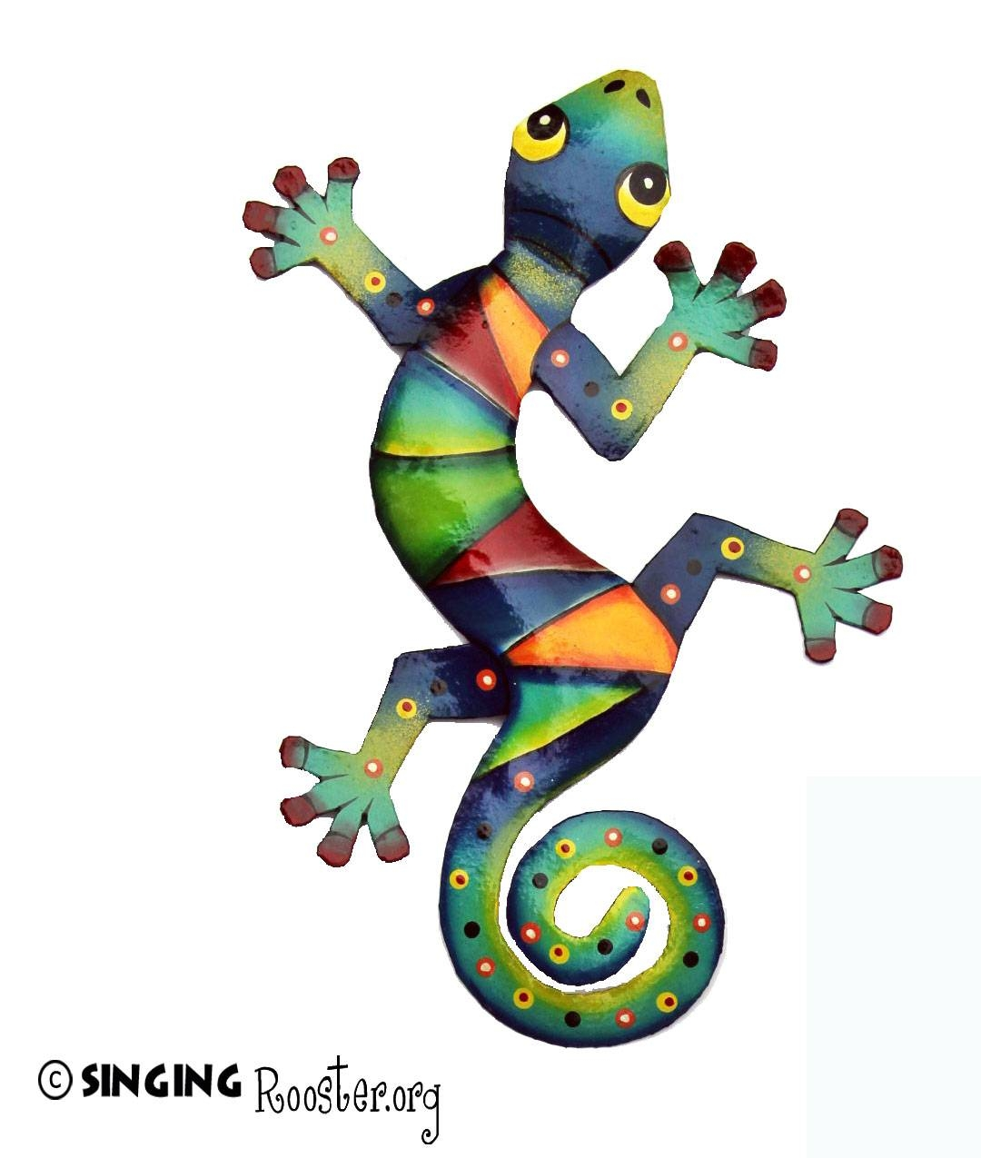 Colorful Gecko Wall Art (View 4 of 20)