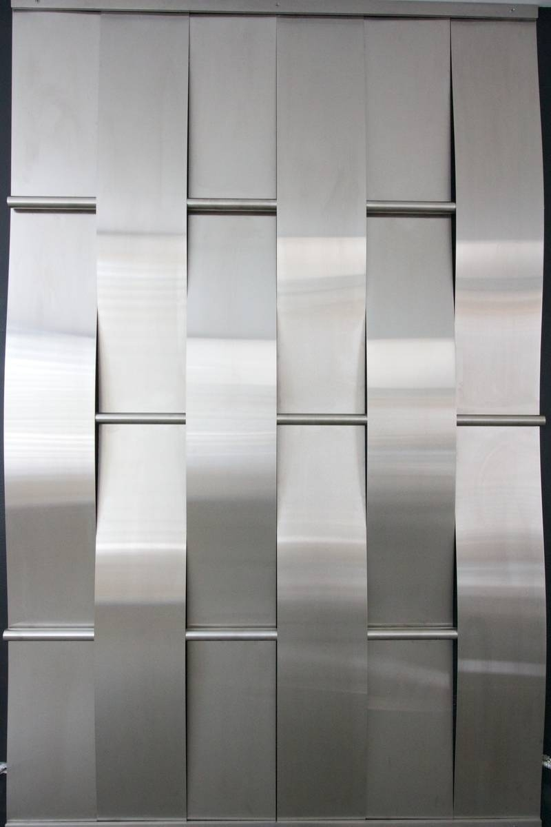 Compact Perforated Metal Wall Panel Systems Woven Stainless Steel With Newest Woven Metal Wall Art (View 1 of 20)
