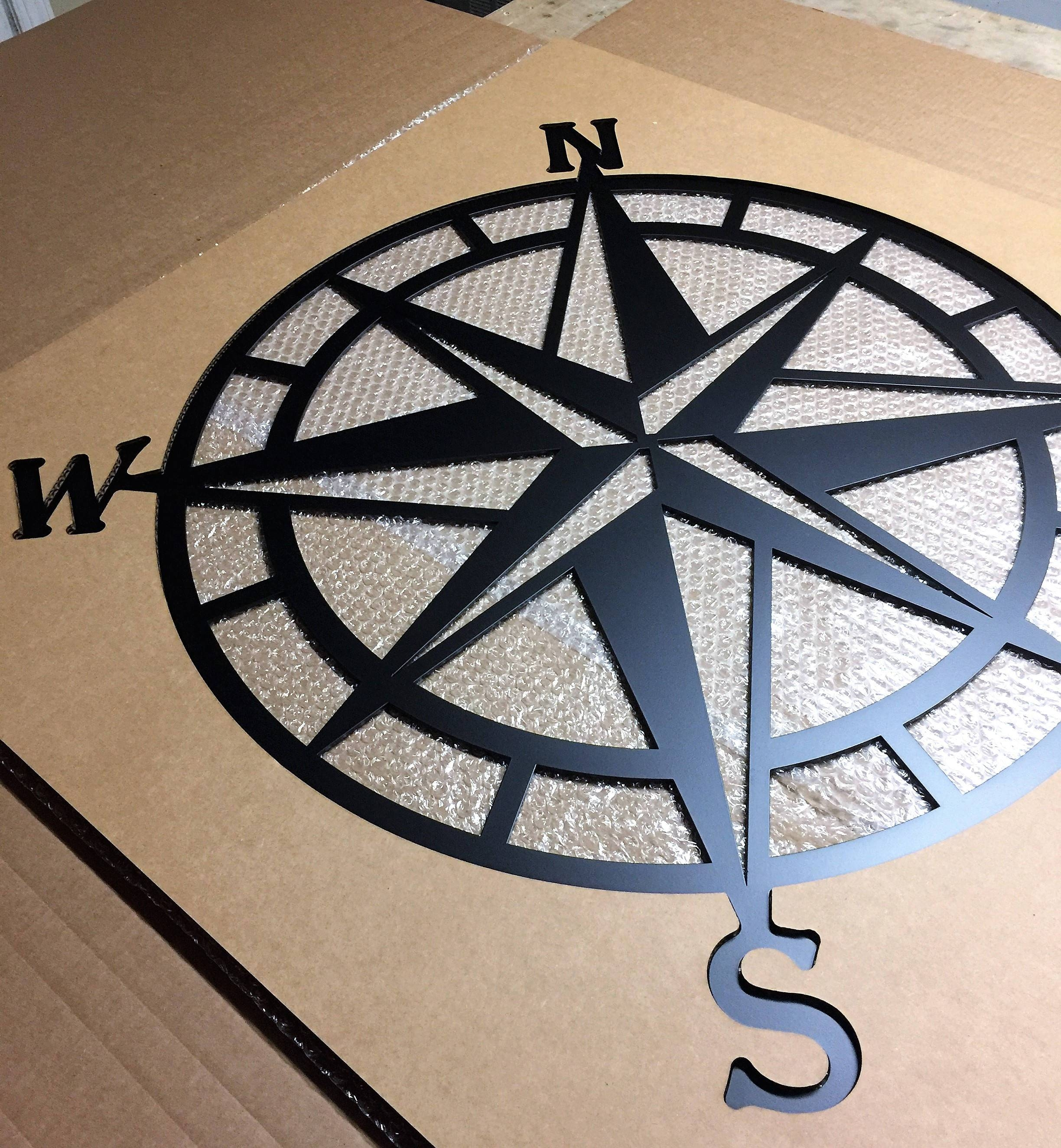 Compass Wall Decor Nautical Compasswall Art Nautical Metal Pertaining To Best And Newest Nautical Metal Wall Art (View 3 of 20)