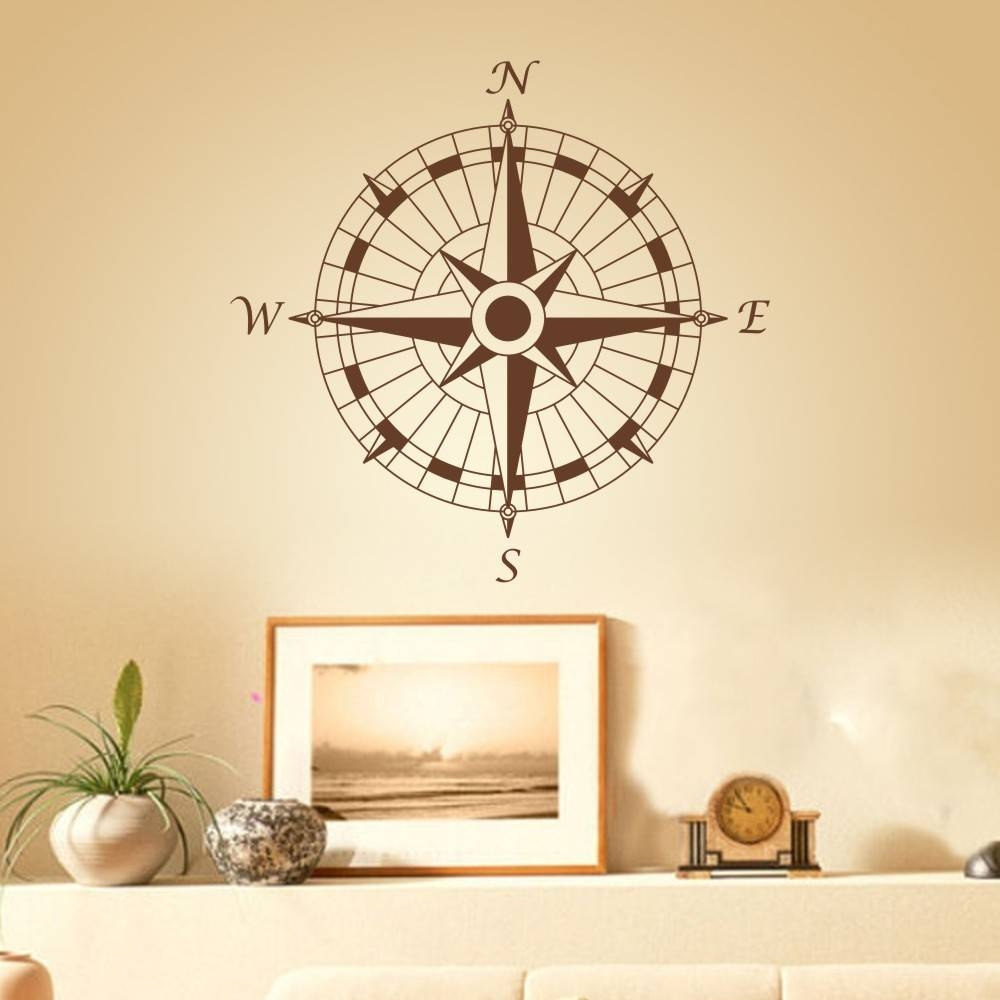 Compass Wall Decor | Roselawnlutheran Pertaining To 2018 Nautical Metal Wall Art (View 4 of 20)