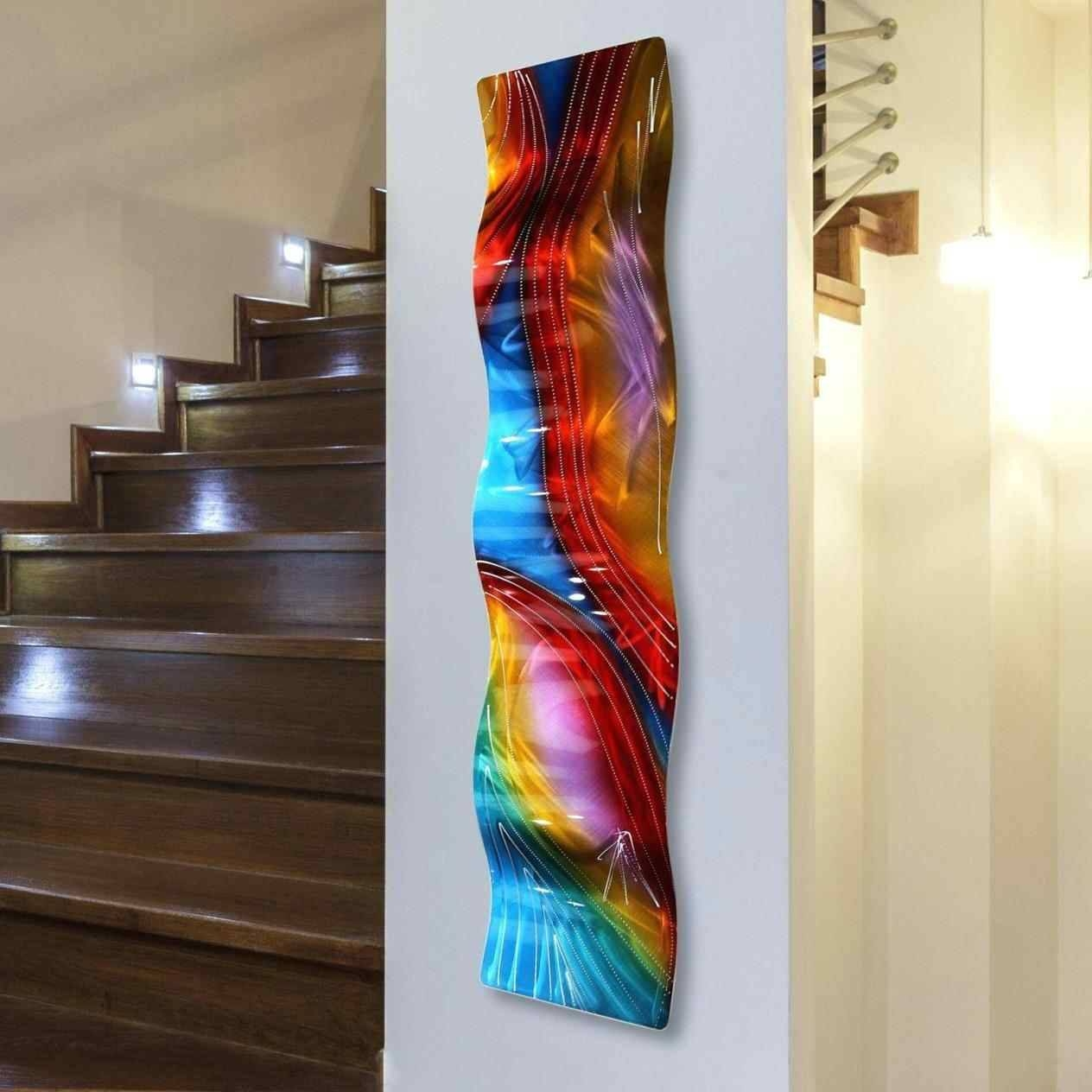 Contemporary Geometric Metal Wall Decor Multi Color Circular Within Most Up To Date Multi Color Metal Wall Art (View 2 of 20)
