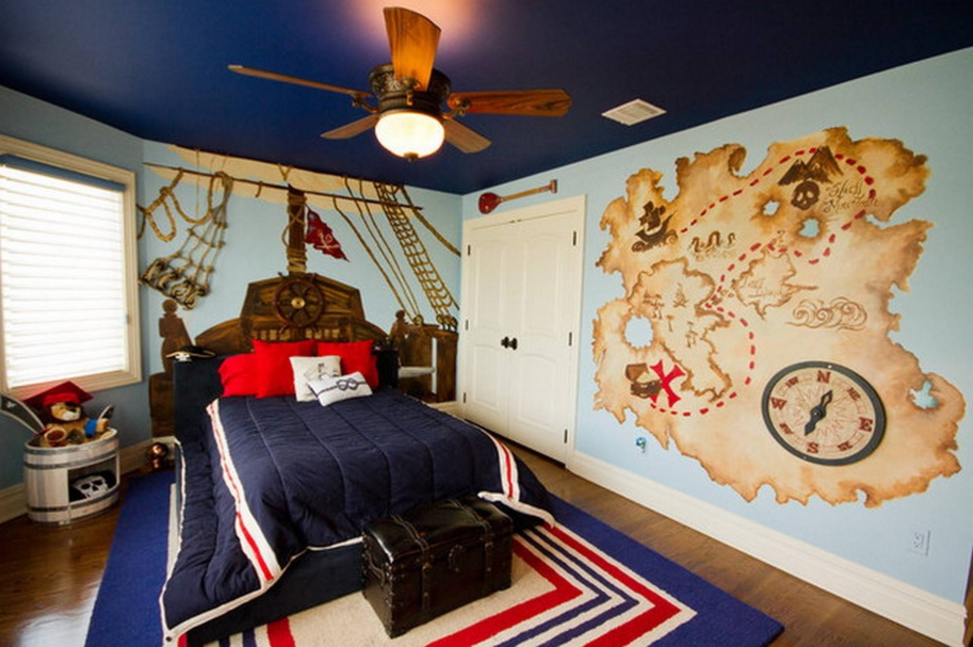 Cool Kid Bedroom Ideas With World Map Wall Art And Wood Ceiling Inside 2018 World Map Wall Art For Kids (View 6 of 20)