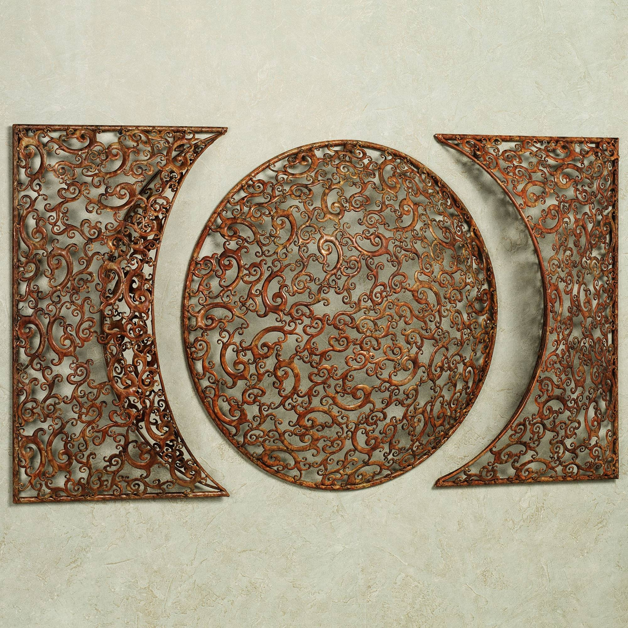 Cool Round Metal Scroll Wall Art Fancy Swirl Metal Wall Round With Regard To Newest Copper Metal Wall Art (View 2 of 20)