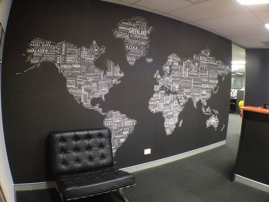 Cool World Maps For Wall Decoration In Your House | Nytexas With Latest Cool Map Wall Art (View 4 of 20)