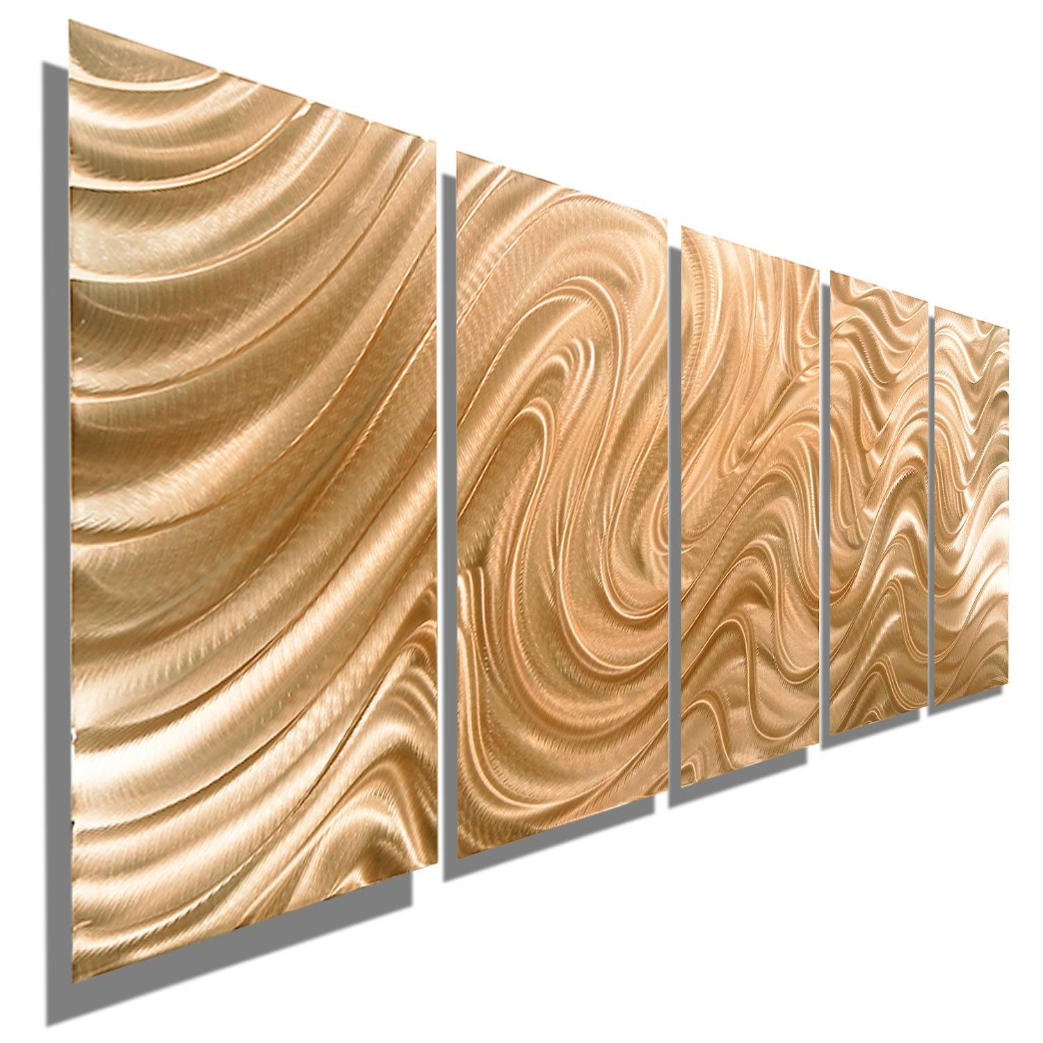 Copper Hypnotic Sands – Copper Abstract Metal Wall Artjon Inside Most Recent Gold Metal Wall Art (View 17 of 20)