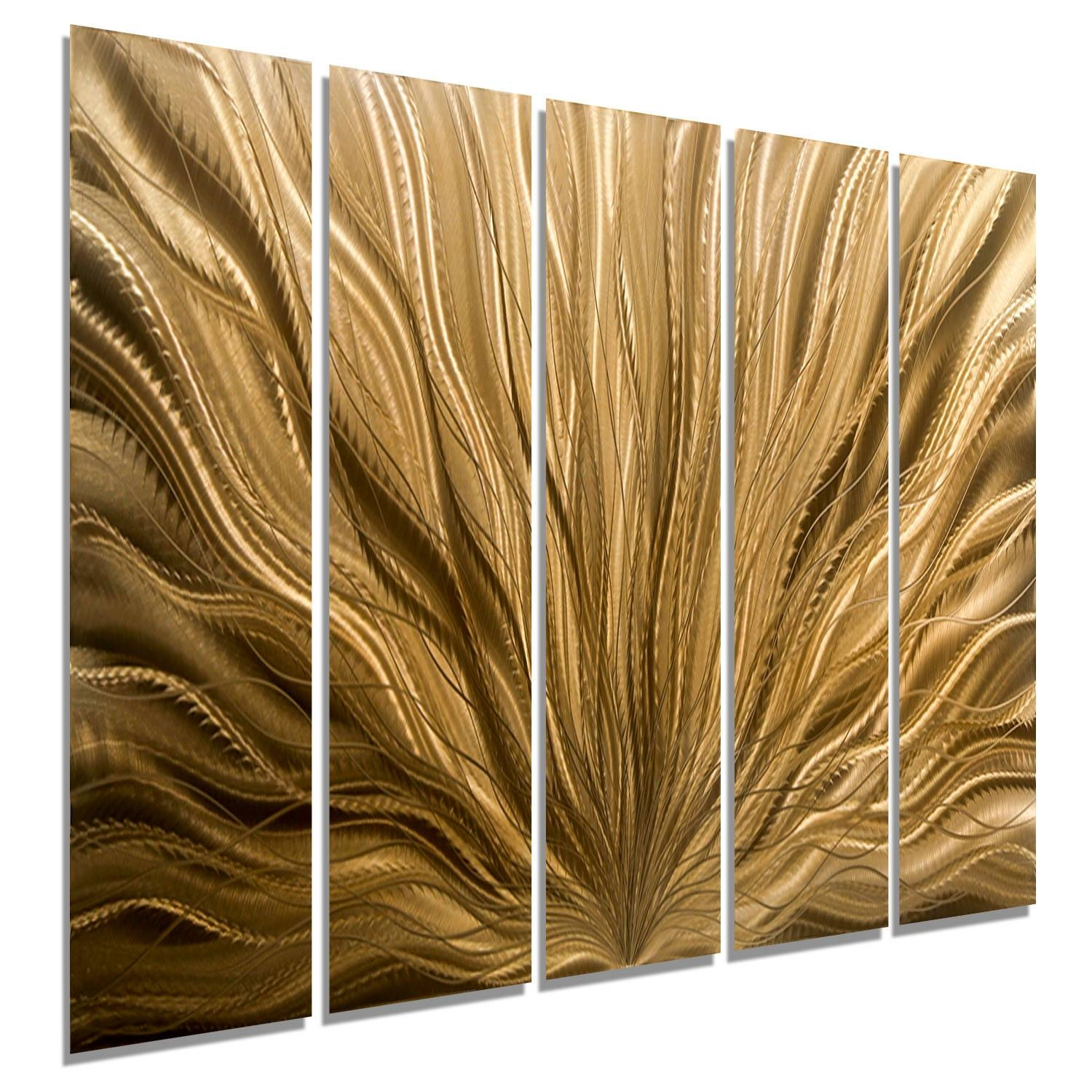 Copper Plumage Epic – Extra Large Light Copper Abstract Metal Wall Intended For Most Up To Date Abstract Metal Wall Art (View 6 of 20)