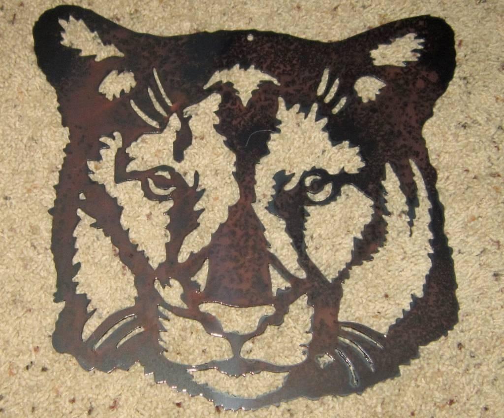 Cougar Metal Art Wildlife Safari Art Mountain Lion Steel Inside Recent Safari Metal Wall Art (View 3 of 20)