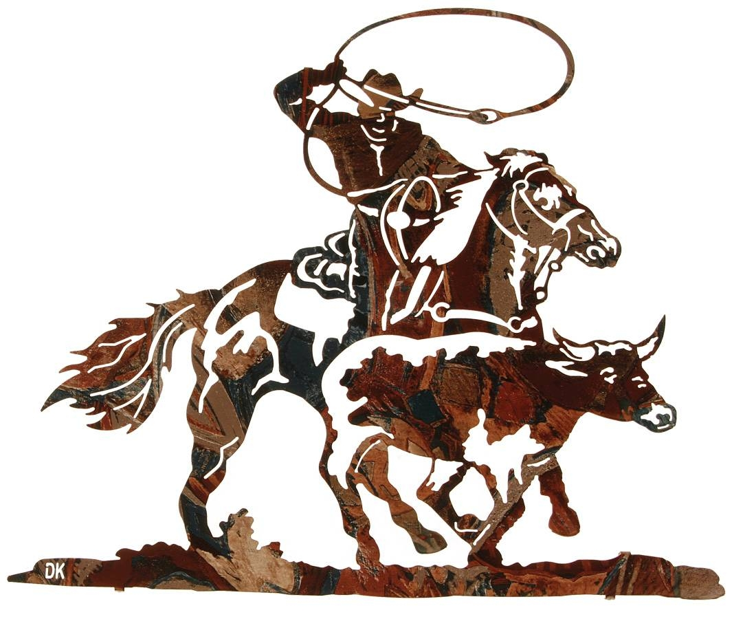 Cowboy Metal Wall Art, Cowboy Wall Hangings, Cowboys And Horses Intended For 2018 Cowboy Metal Wall Art (View 11 of 20)
