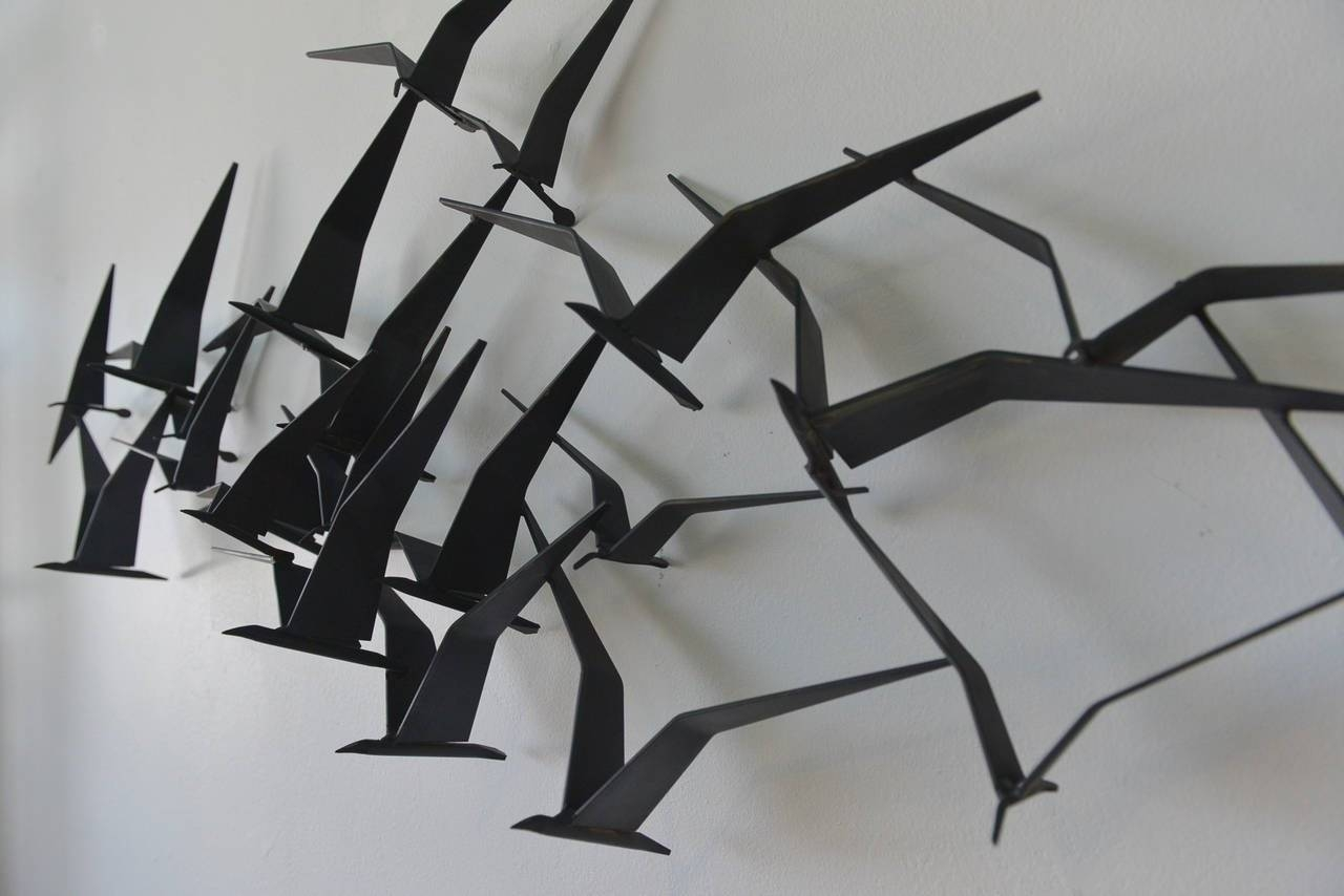 Curtis Jere Birds In Flight Metal Wall Sculpture At 1Stdibs In 2018 Metal Wall Art Birds In Flight (View 3 of 20)