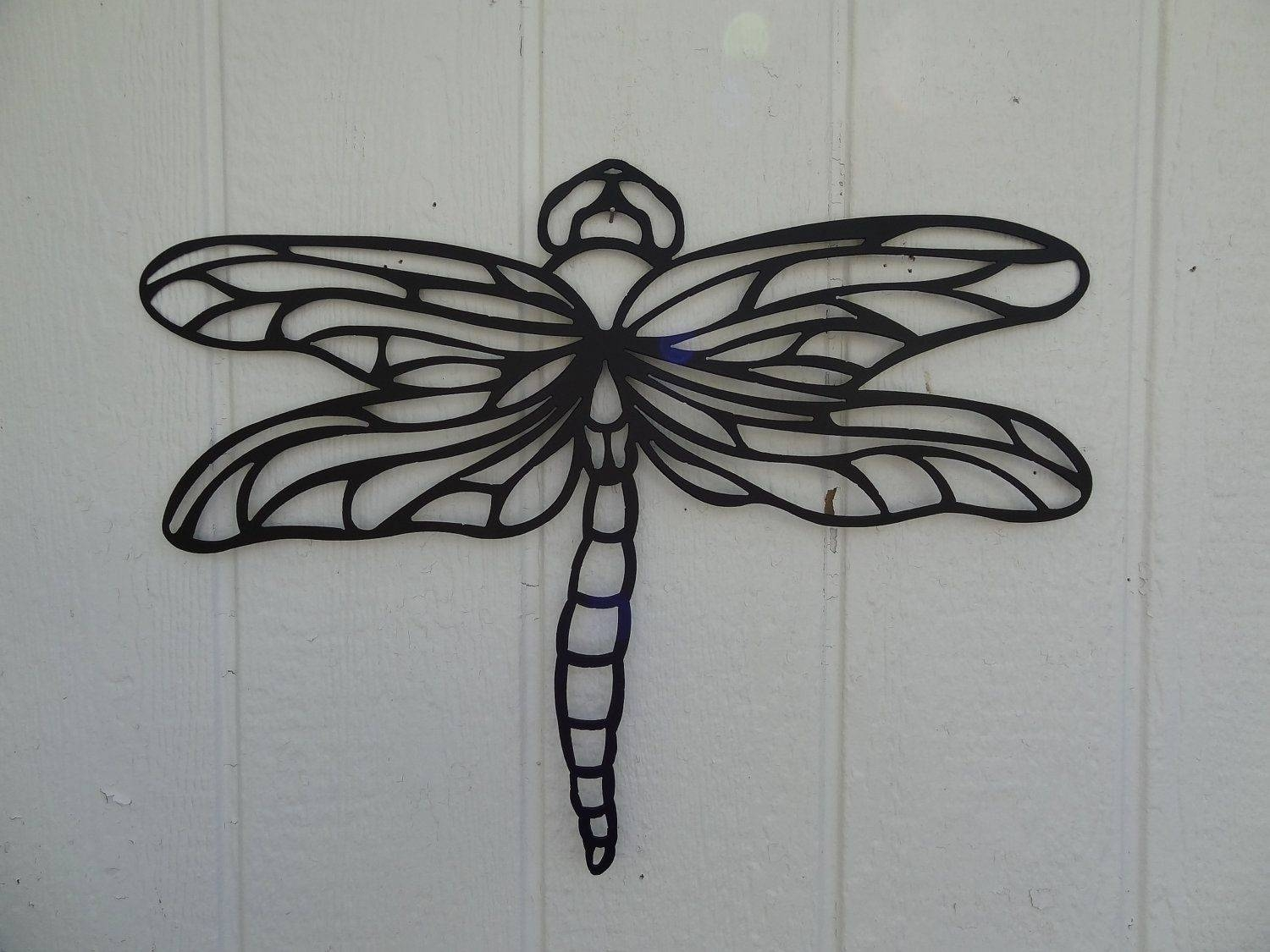 Custom Dragonfly 2Ft Metal Wall Art Home Garden Kitchen Decor Inside Latest Dragonfly Metal Wall Art (View 2 of 20)