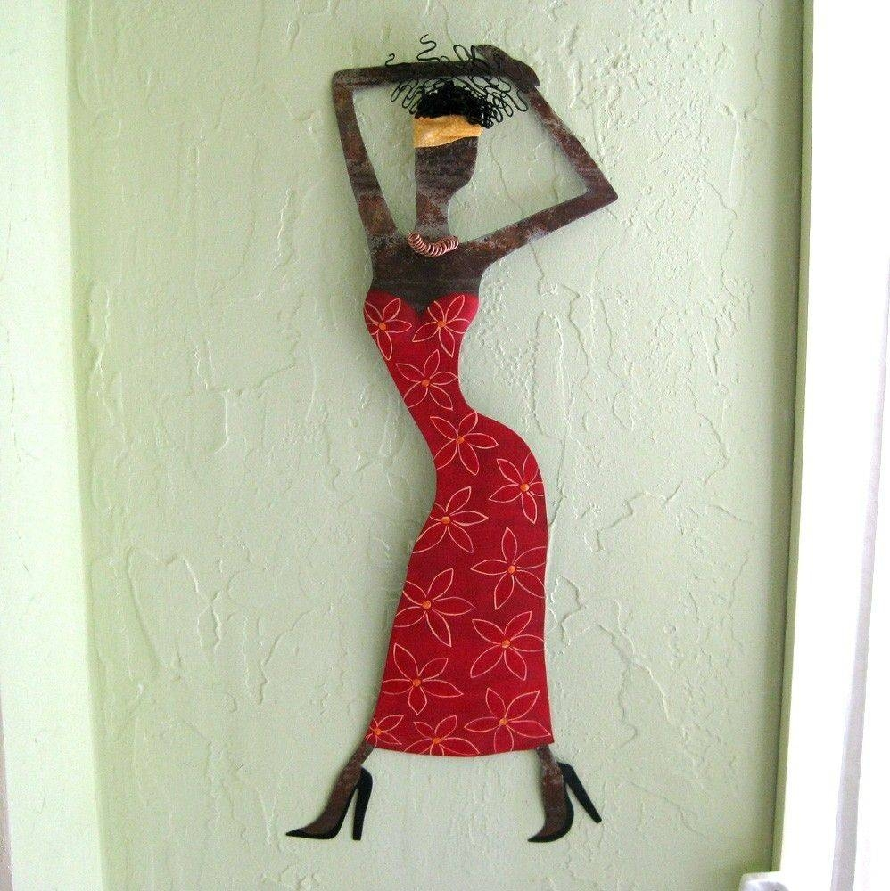 Custom Handmade Upcycled Metal Exotic African Lady Wall Art Throughout 2018 Handmade Metal Wall Art (View 3 of 20)