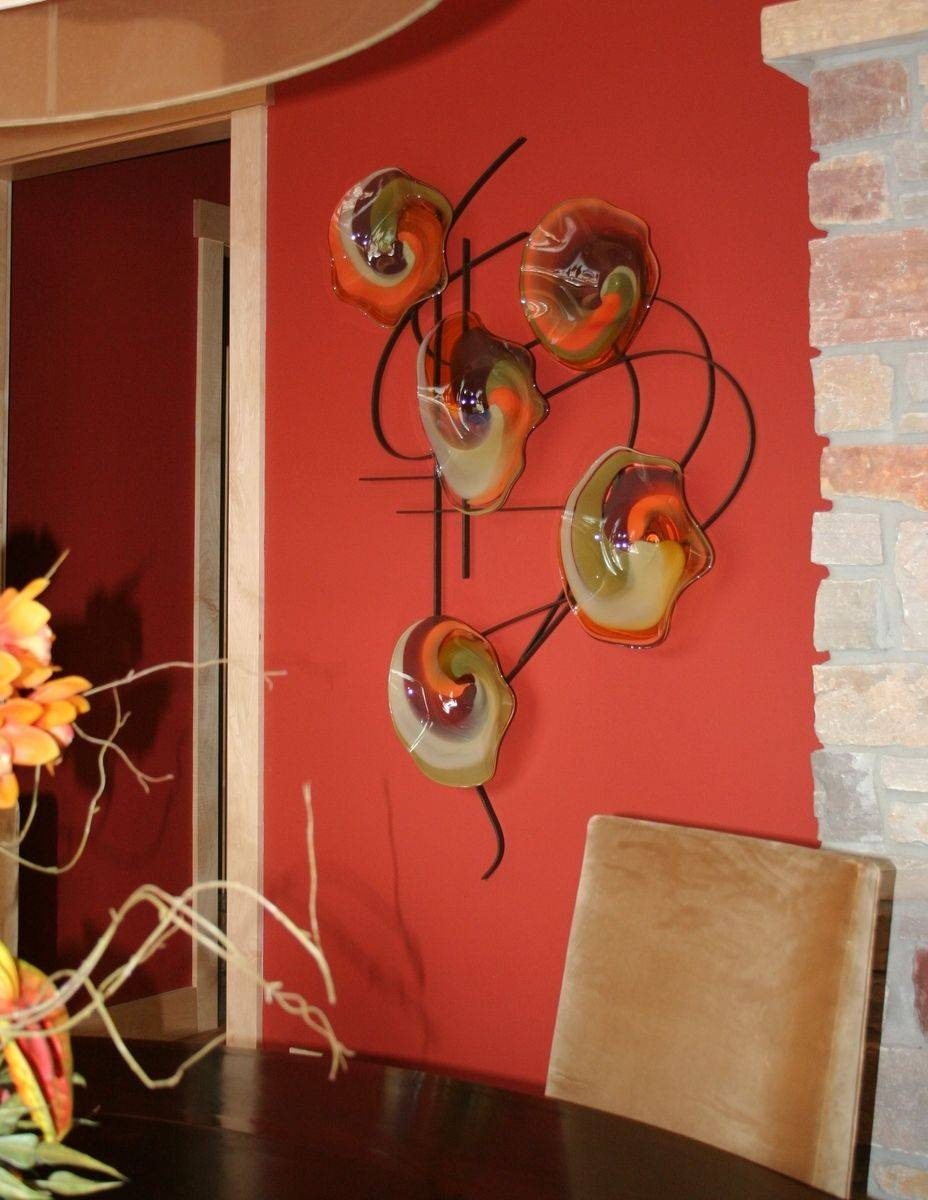 Custom Made Blown Glass And Metal Wall Artbonnie M (View 3 of 20)