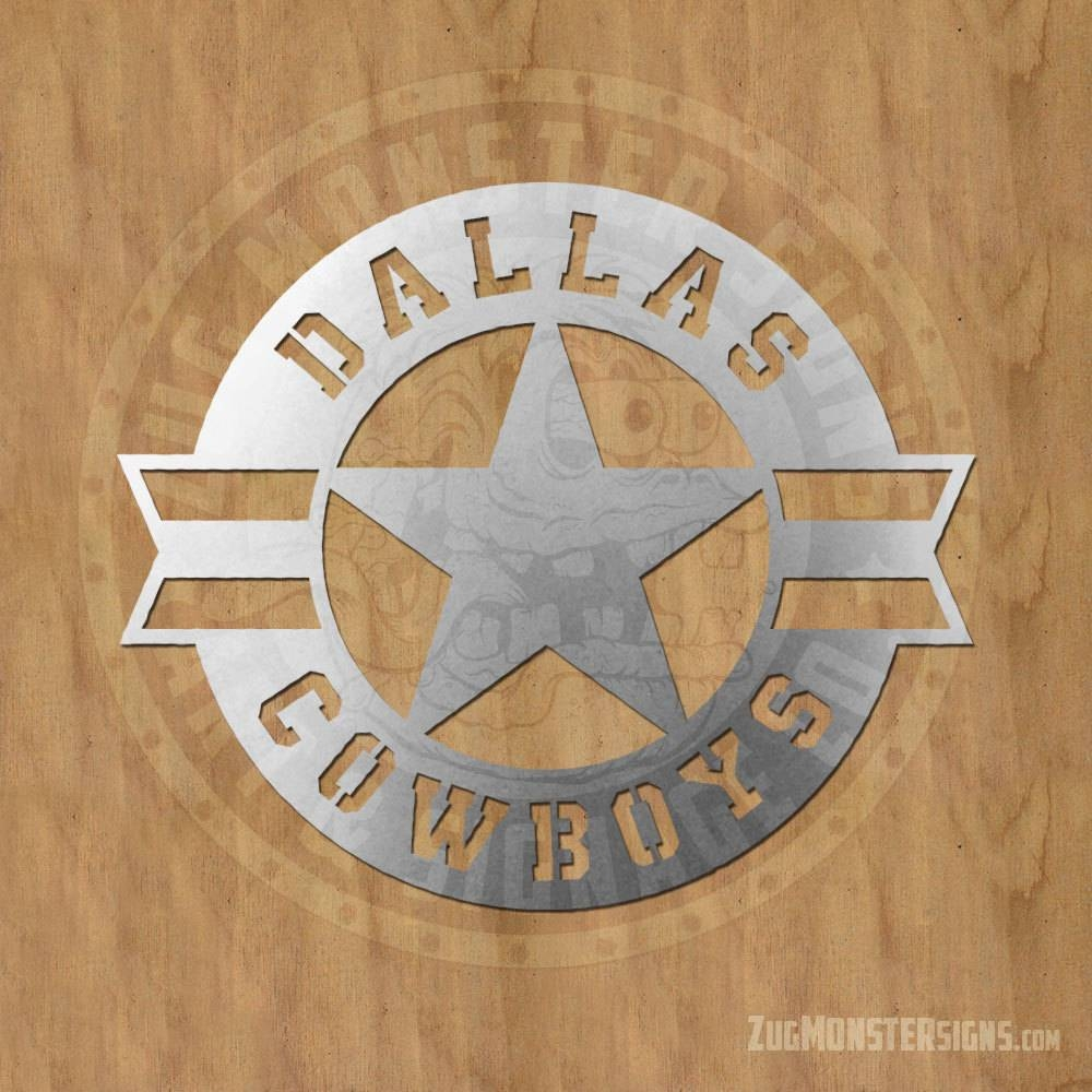 Dallas Cowboys Metal Sign | Zug Monster Signs | Signage, Metal Intended For Most Recently Released Cowboy Metal Wall Art (View 8 of 20)