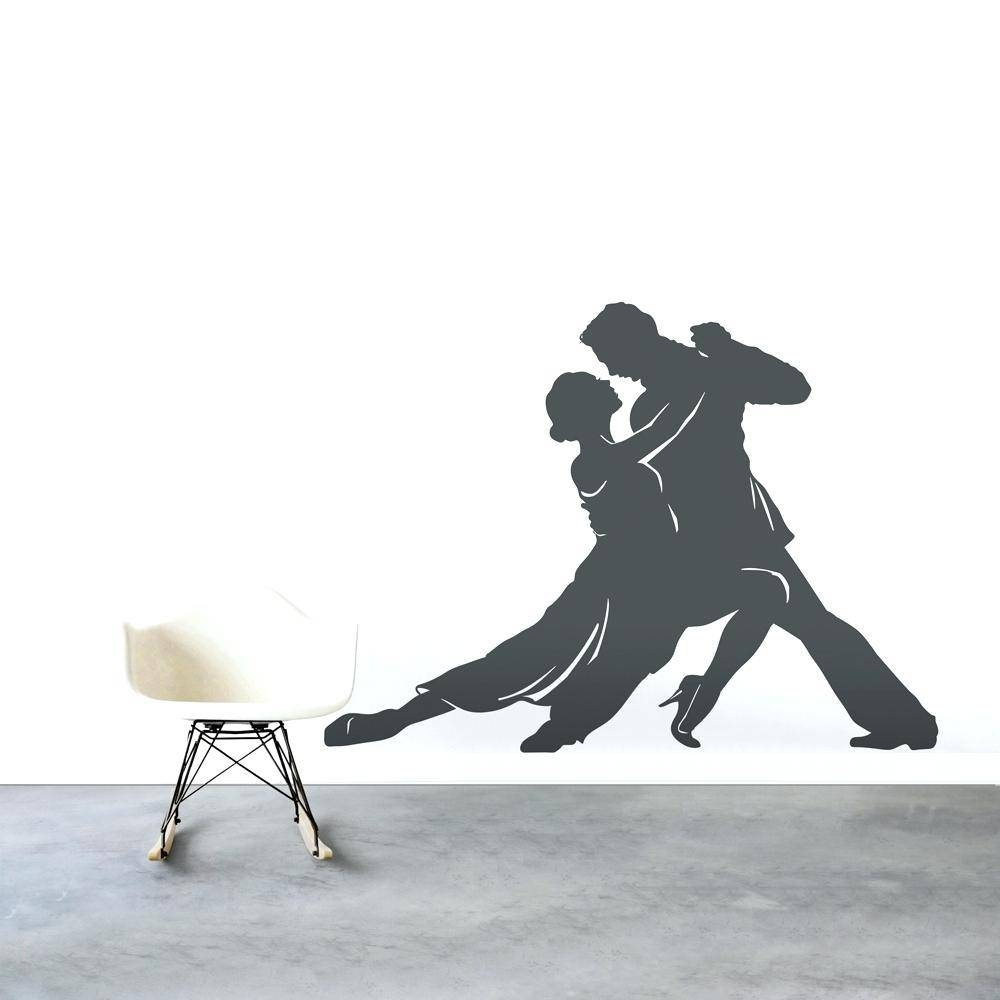 Dancer Silhouette Wall Decals Wall Ideas Floral Silhouette Metal Intended For Most Recently Released Metal Wall Art Dancers (View 7 of 20)