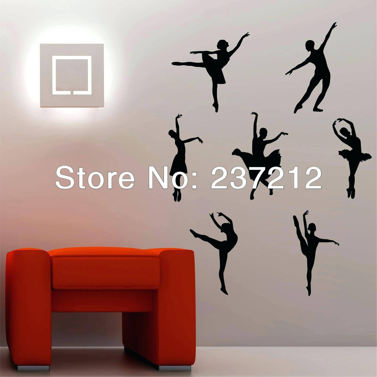 Dancer Silhouette Wall Decals Wall Ideas Floral Silhouette Metal Pertaining To Best And Newest Metal Wall Art Dancers (View 8 of 20)