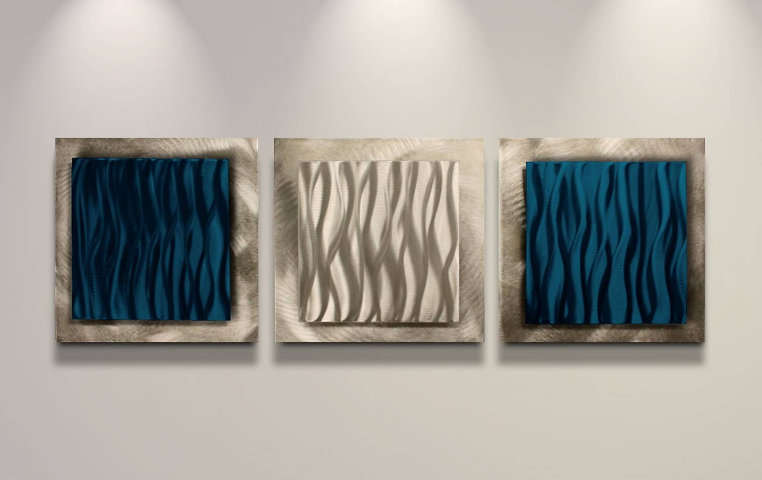 Dazzling Rave Metal Wall Sculpture Metal Wall Art Sculptures Touch Inside Best And Newest Blue Metal Wall Art (View 6 of 20)