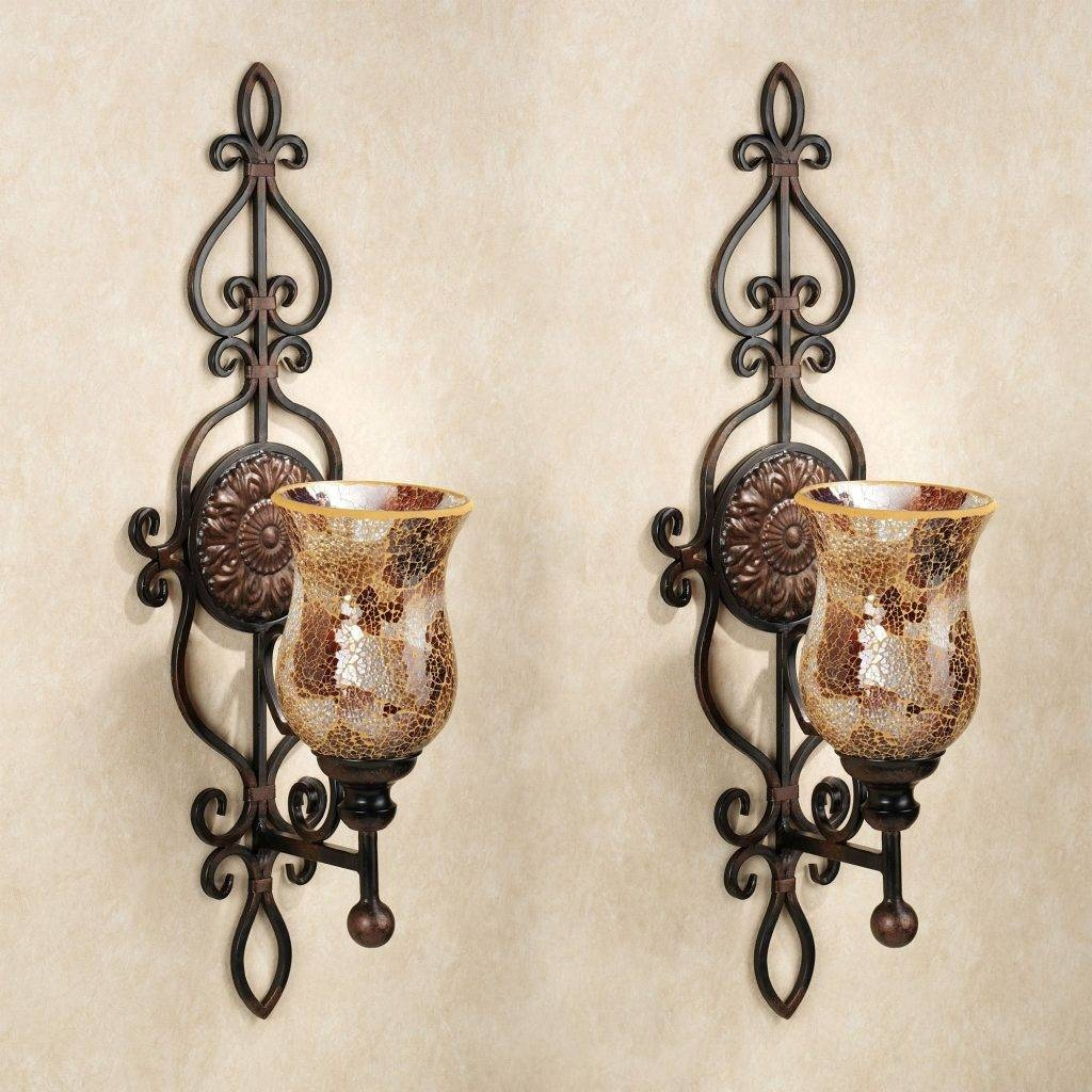 Decor Tips Mirrored Candle Sconces With Pillar And Wall Glass Pertaining To Most Popular Metal Wall Art With Candle Holders (View 14 of 20)