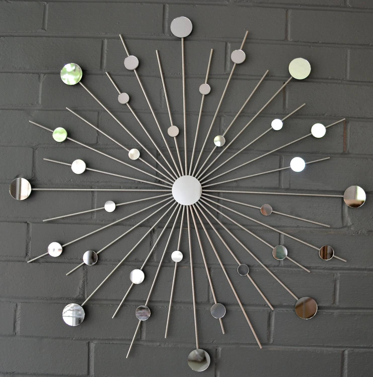 Decorating: 24 Starburst Modern Metal Wall Art Mirror Retro For Throughout Most Popular Metal Wall Art Mirrors (View 3 of 20)