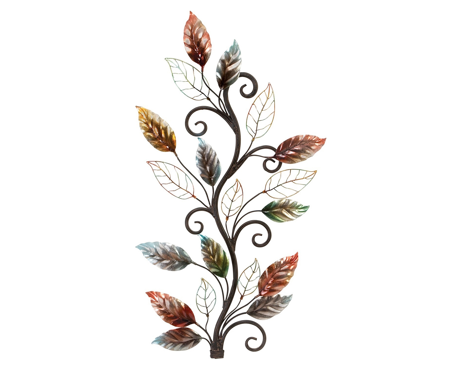 Decorating: Incredible Metal Branch Copper Leaf Metal Wall Art Throughout Most Current Metal Wall Art Trees And Leaves (View 19 of 20)