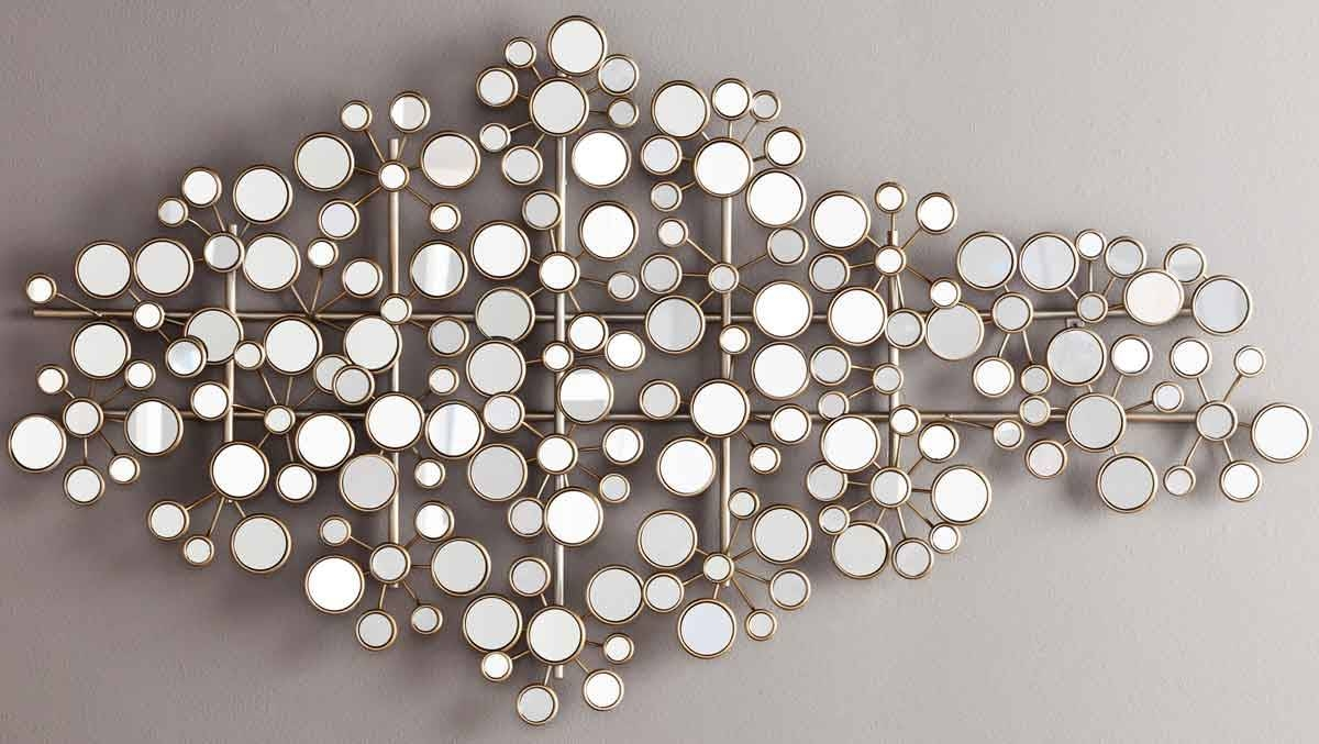 Decorations: Mirrored Wall Decor For Beauty Home Space With Newest Metal Wall Art With Mirrors (View 2 of 20)