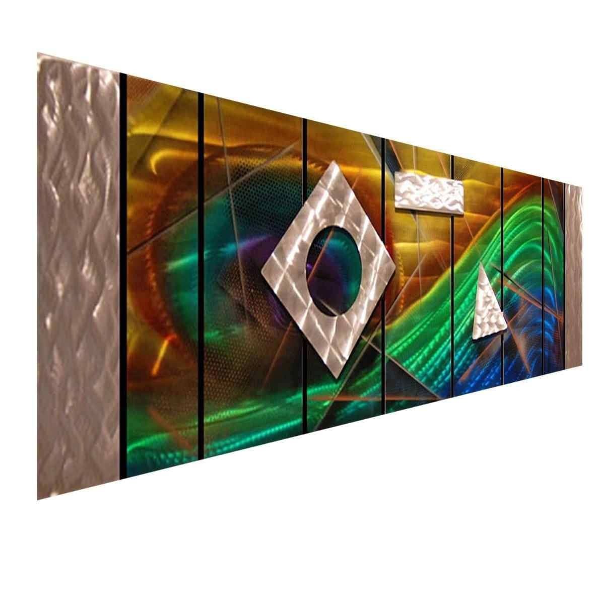 Decorations Multi Color Metal Wall Art Brown Tuscany Bloom Wall With Regard To Latest Multi Color Metal Wall Art (View 12 of 20)