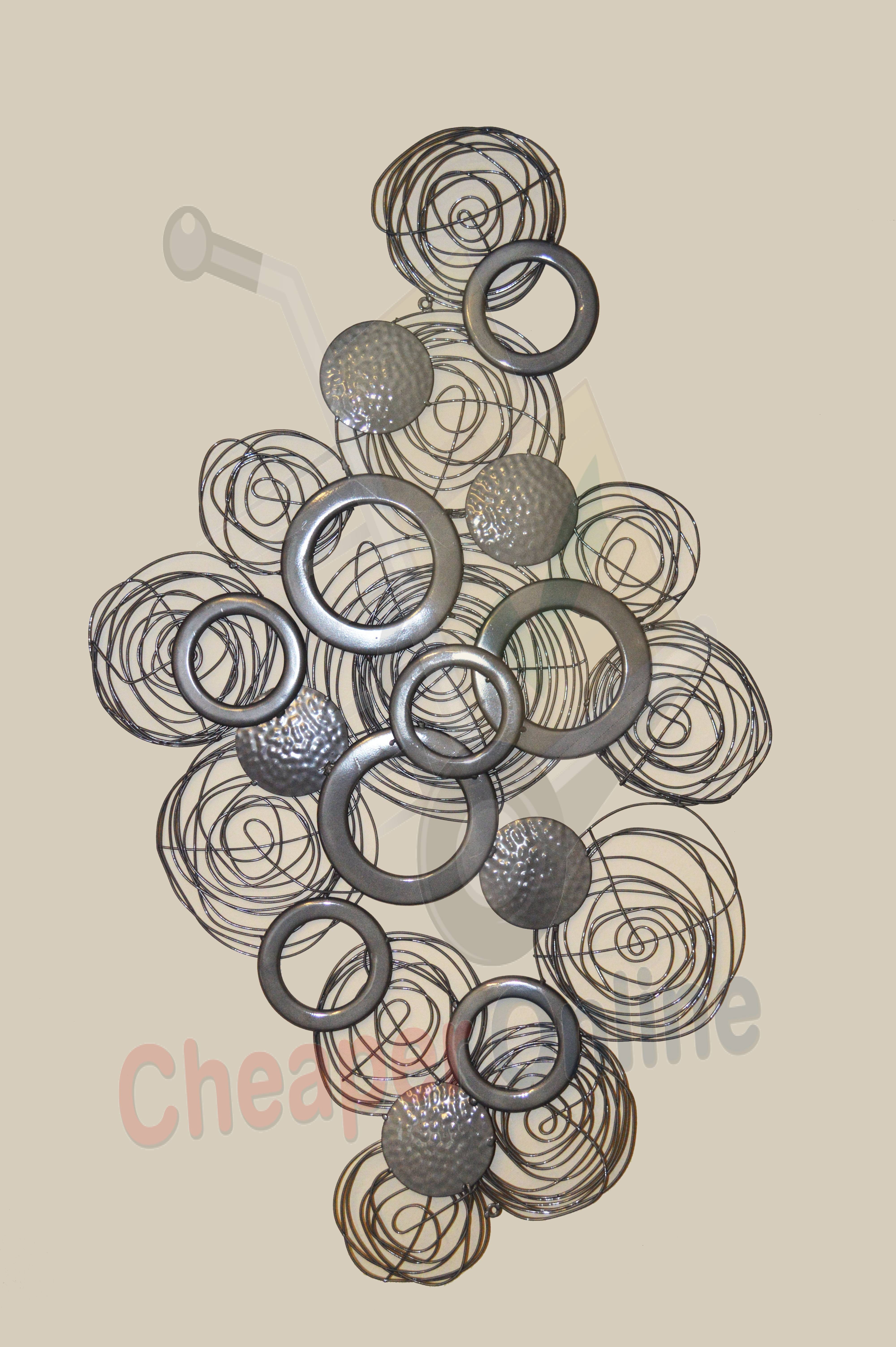 Decorative 3d Metal Circle Wall Art Cheaper Online.co (View 3 of 20)