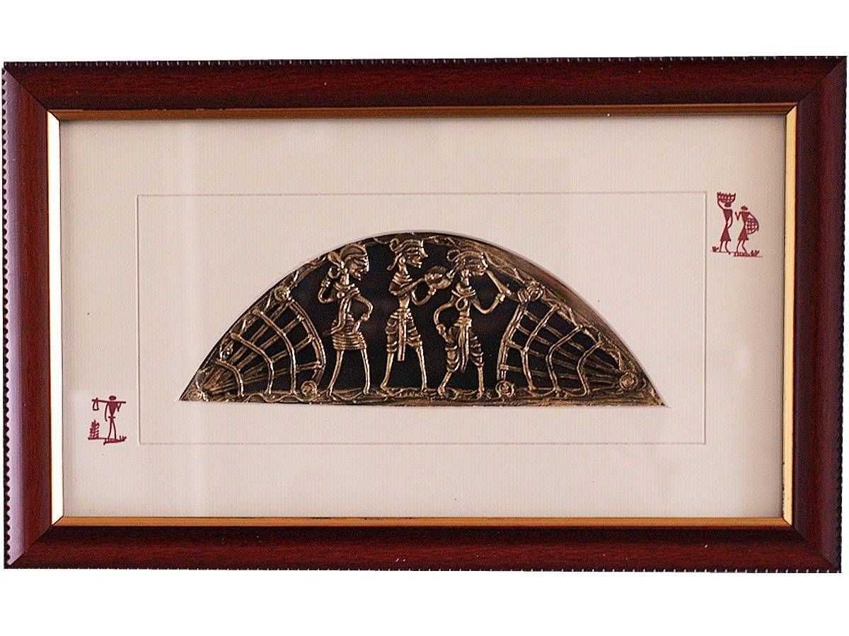 Decorative Metal Wall Art | Indian Dhokra Art | At Craft Montaz Regarding Recent Indian Metal Wall Art (Gallery 11 of 20)
