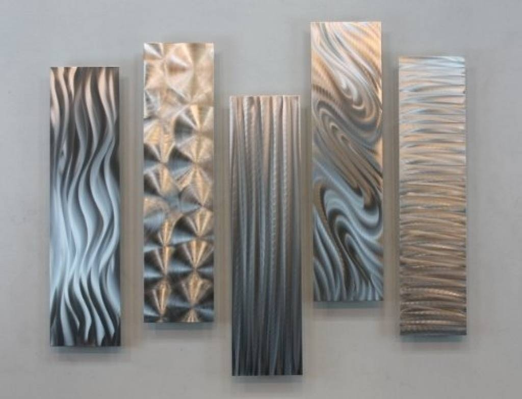 Decorative Metal Wall Art Panels Silver Rectangular Metal Wall Pertaining  To Recent Etched Metal Wall Art