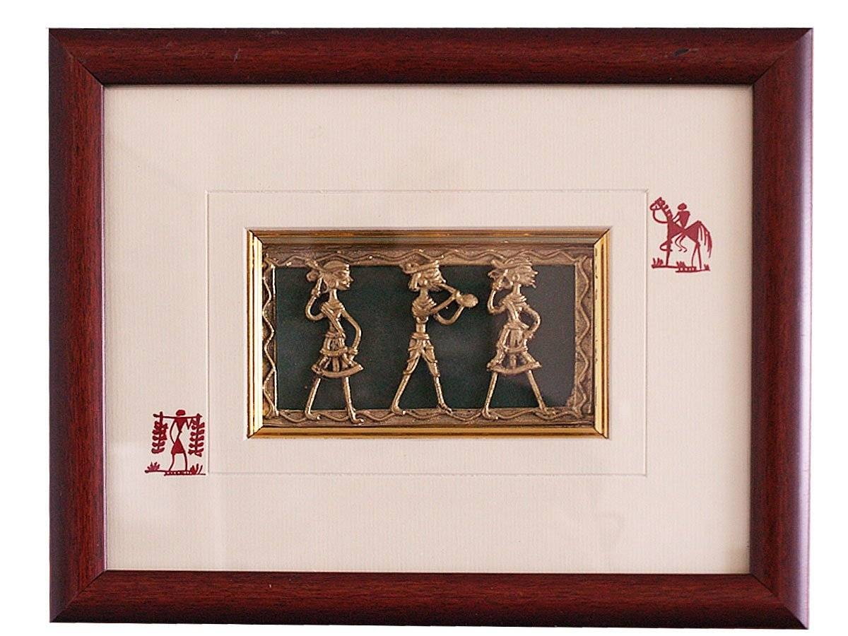Decorative Wall Art | Dhokra Art From India | Now At Craft Montaz Pertaining To Best And Newest Indian Metal Wall Art (View 3 of 20)