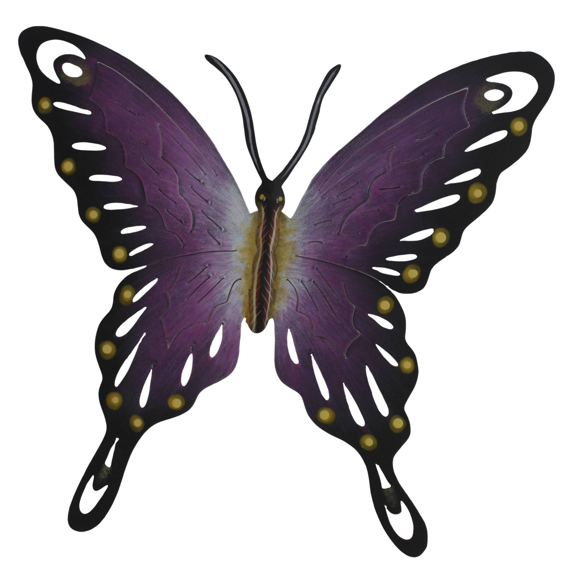 Deep Purple Butterfly – Wildlife Metal Wall Art Regarding Recent Purple Metal Wall Art (View 6 of 20)