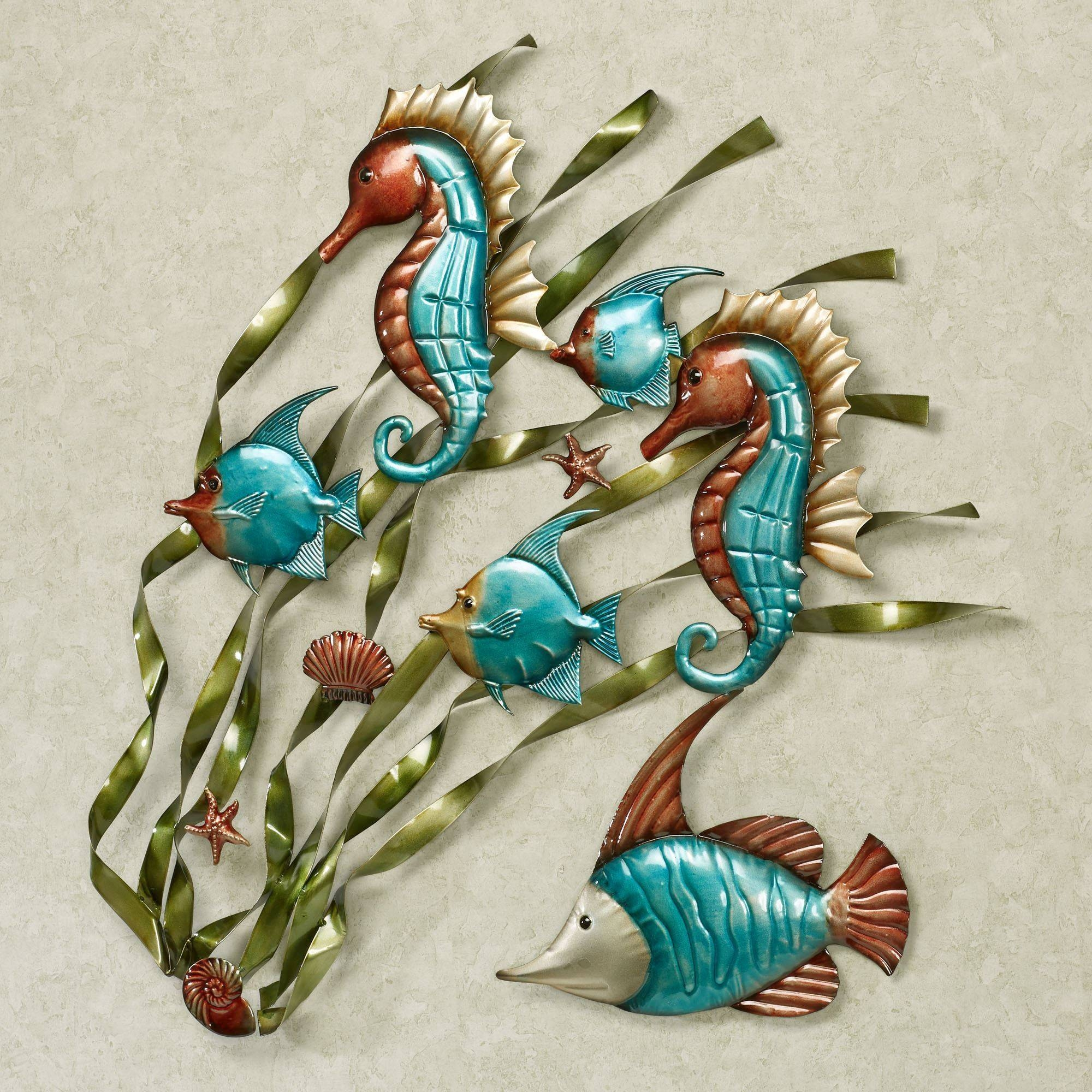 Deep Sea Fish And Seahorse Metal Wall Art With 2018 Turquoise Metal Wall Art (View 16 of 20)
