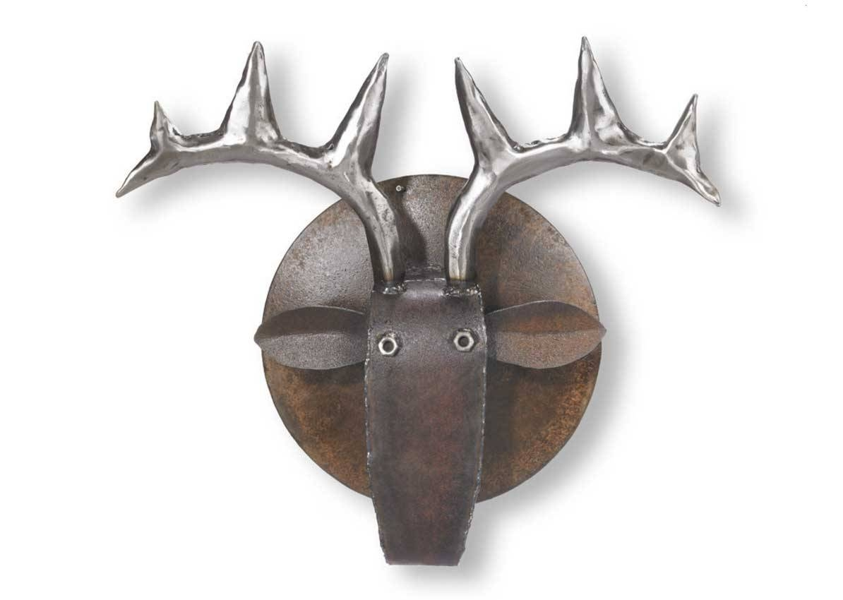 Deer Head Outdoor Metal Wall Art Decor And Sculptures | Home Throughout Best And Newest Outdoor Metal Wall Art Decor And Sculptures (View 3 of 20)
