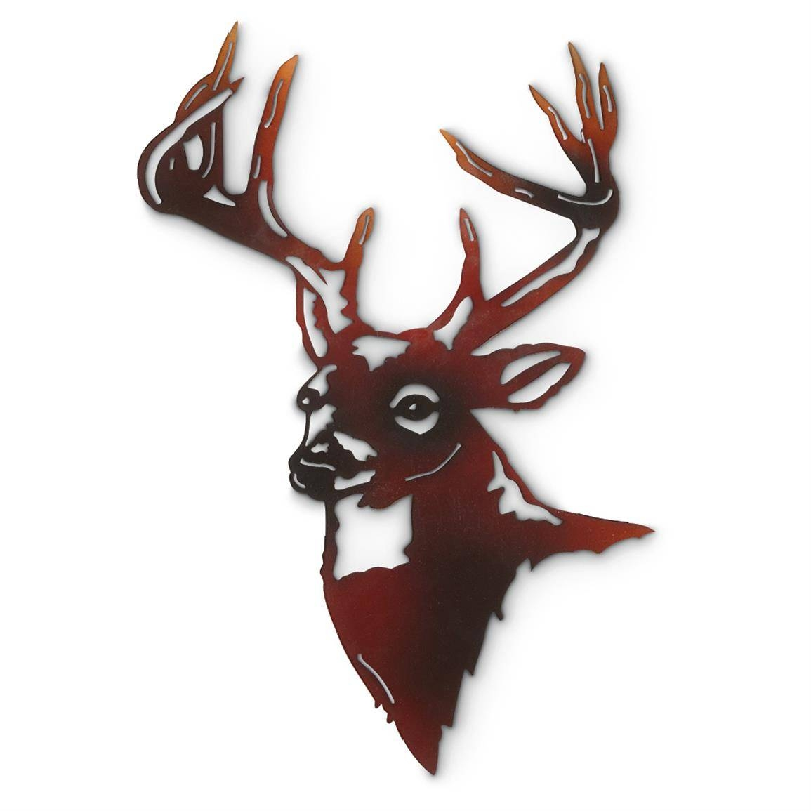 Deer Metal Wall Art – 592473, Wall Art At Sportsman's Guide With Regard To Most Recent Elk Metal Wall Art (View 5 of 20)