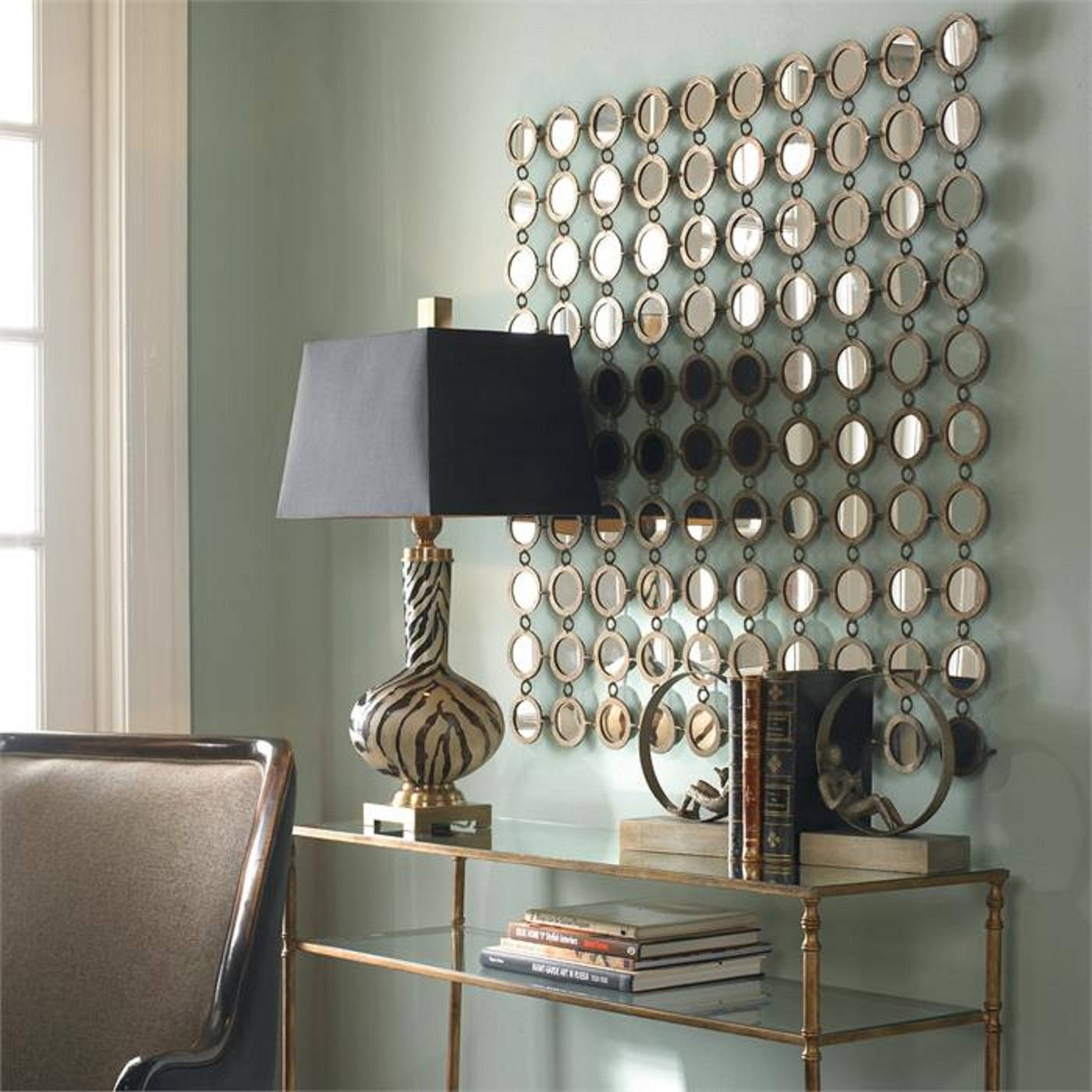 Deluxe Decorative Mirror On Mirrored Wall Decor Mirrored Wall Inside Latest Metal Wall Art With Mirrors (View 3 of 20)
