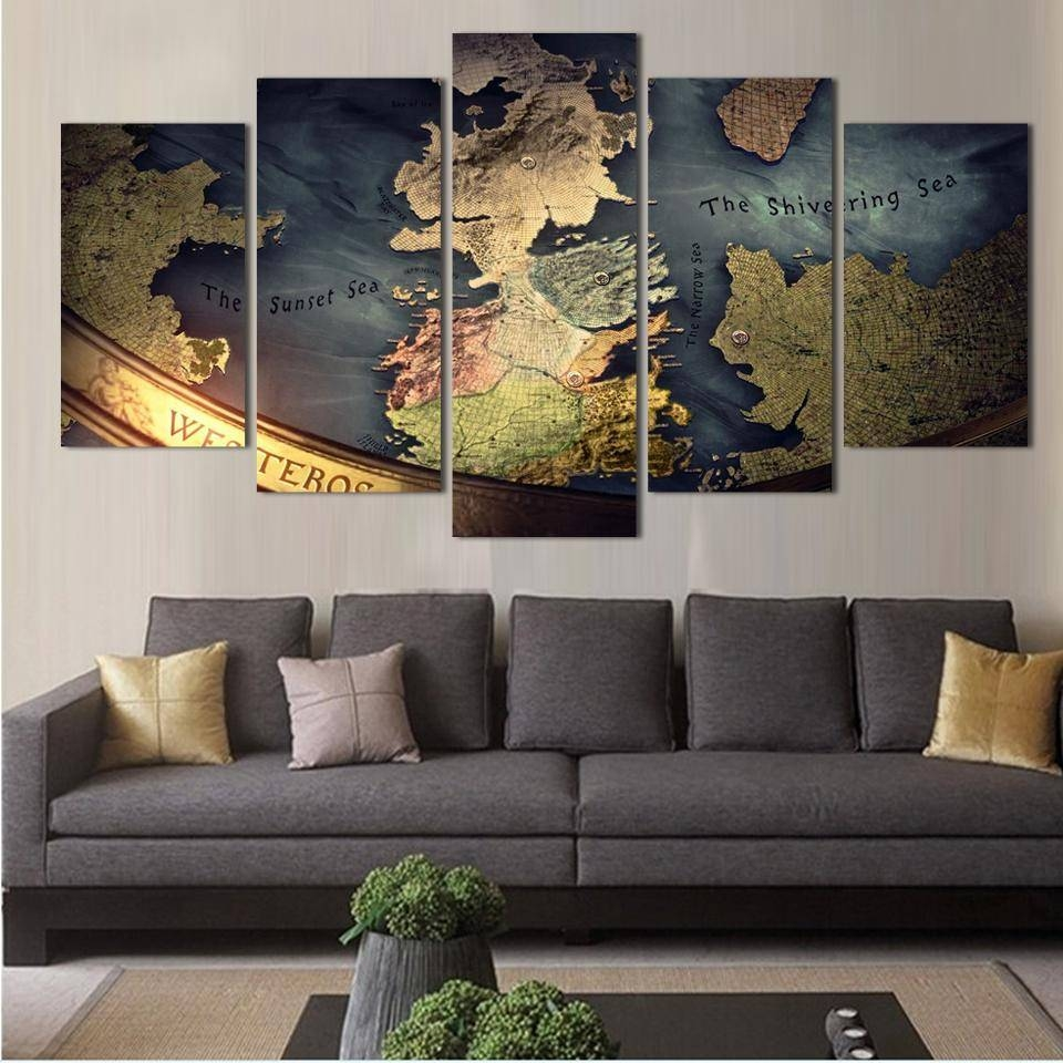Diagram Collection Blue World Map Wall Art New Decor For Current World Map Wall Art Canvas (View 5 of 20)