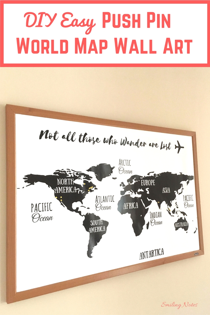 Diy Easy Push Pin World Map Wall Art Inside Current Europe Map Wall Art (View 16 of 20)