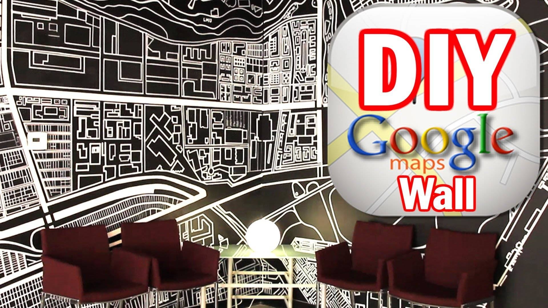 Diy Google Map Wall, Man Vs. Pin #5 - Youtube pertaining to Most Current Street Map Wall Art