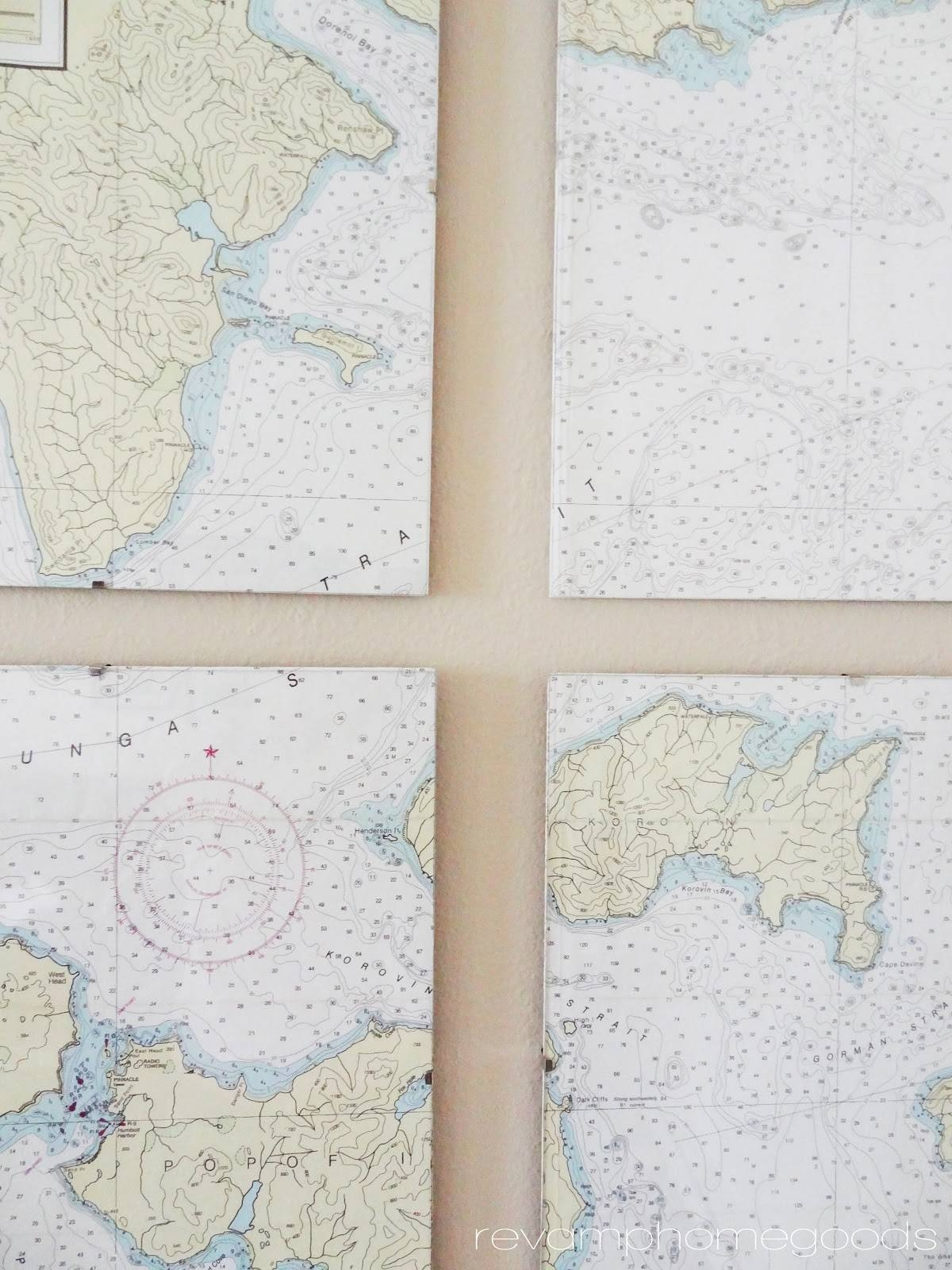 Diy Nautical Chart Art | Revamp Homegoods In Most Up To Date Nautical Map Wall Art (View 3 of 20)