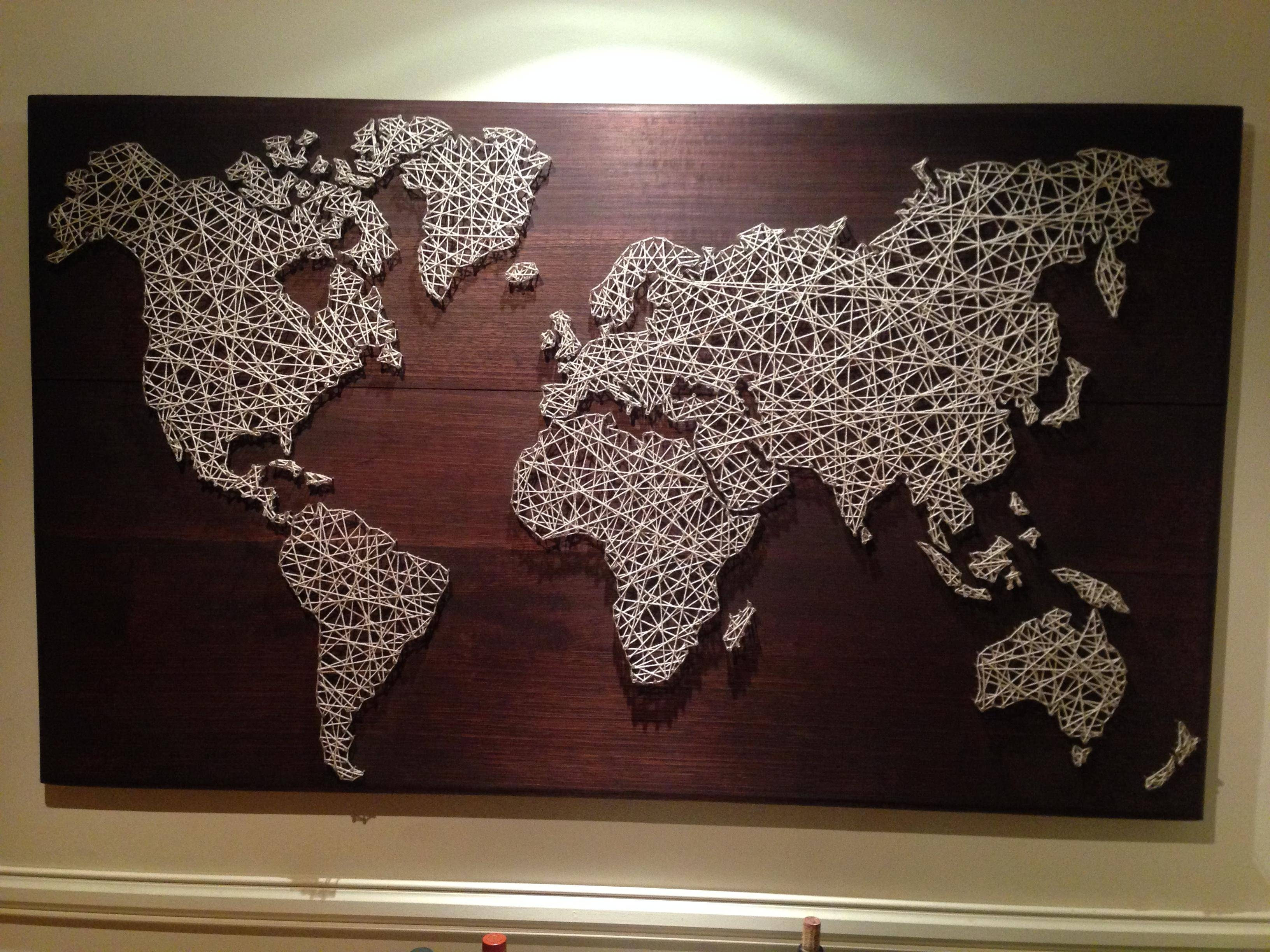 Explore Gallery of String Map Wall Art (Showing 16 of 20 Photos)