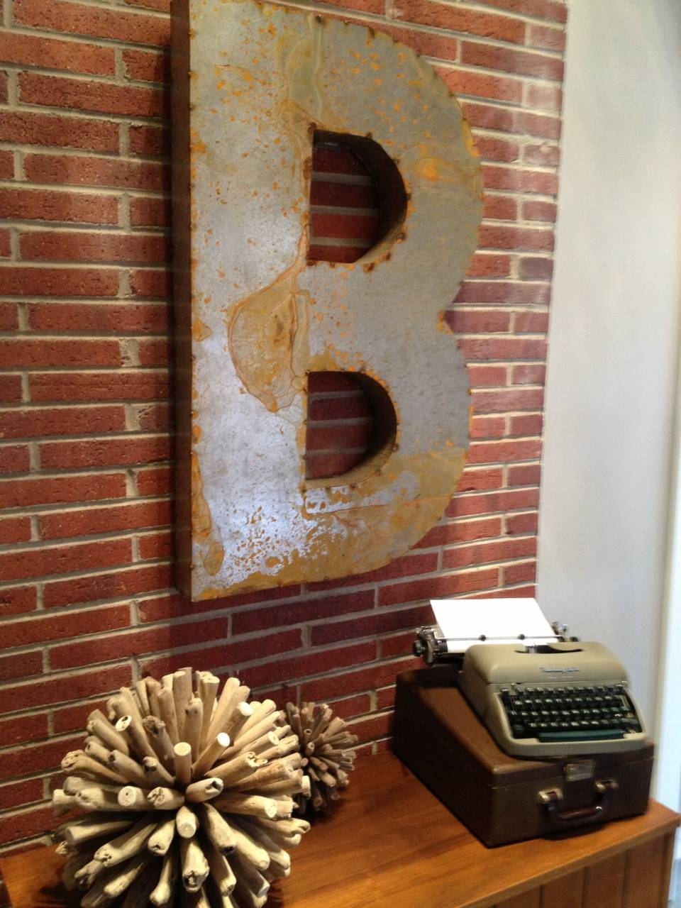 Diy Wall Art–our Favorties « Pineapple Juice! Pertaining To Current Metal Wall Art Letters (View 6 of 20)