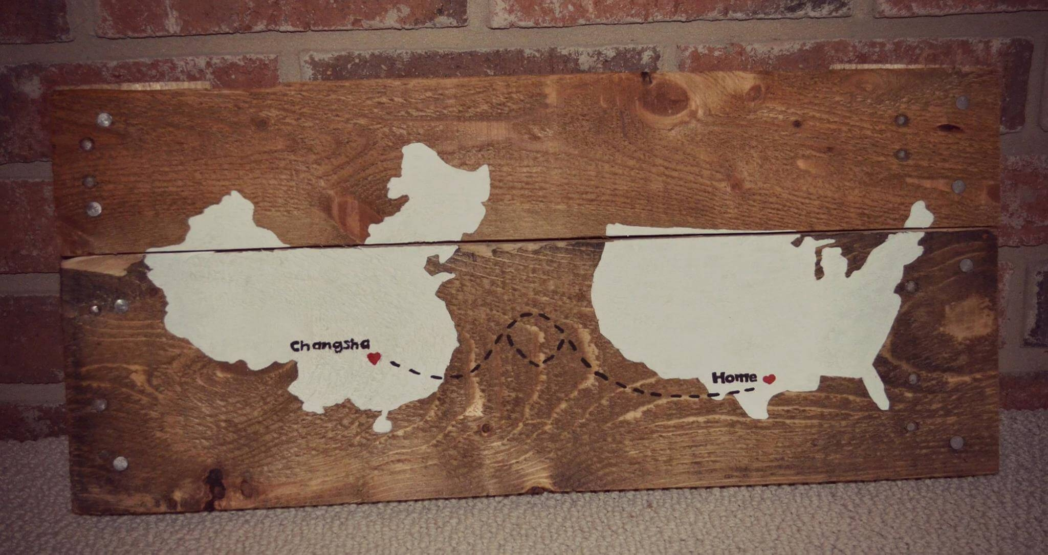 Diy Wooden Pallet Rustic Map Wall Art – 101 Pallet Ideas Throughout Most Up To Date Wood Map Wall Art (View 4 of 20)
