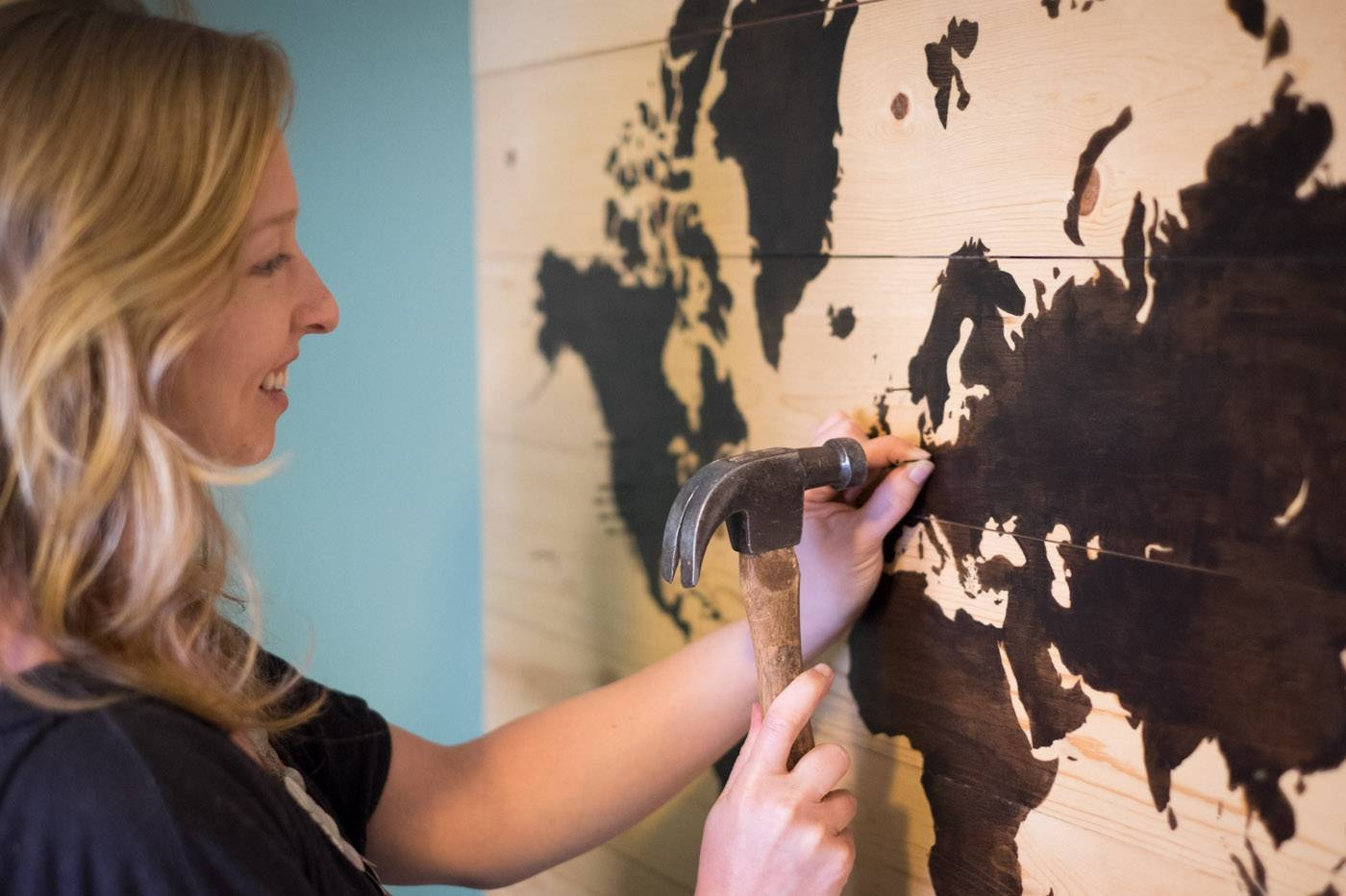 Diy Worth A Try: Display Your Travels Beautifully On This Wooden Within Most Popular Travel Map Wall Art (View 5 of 20)