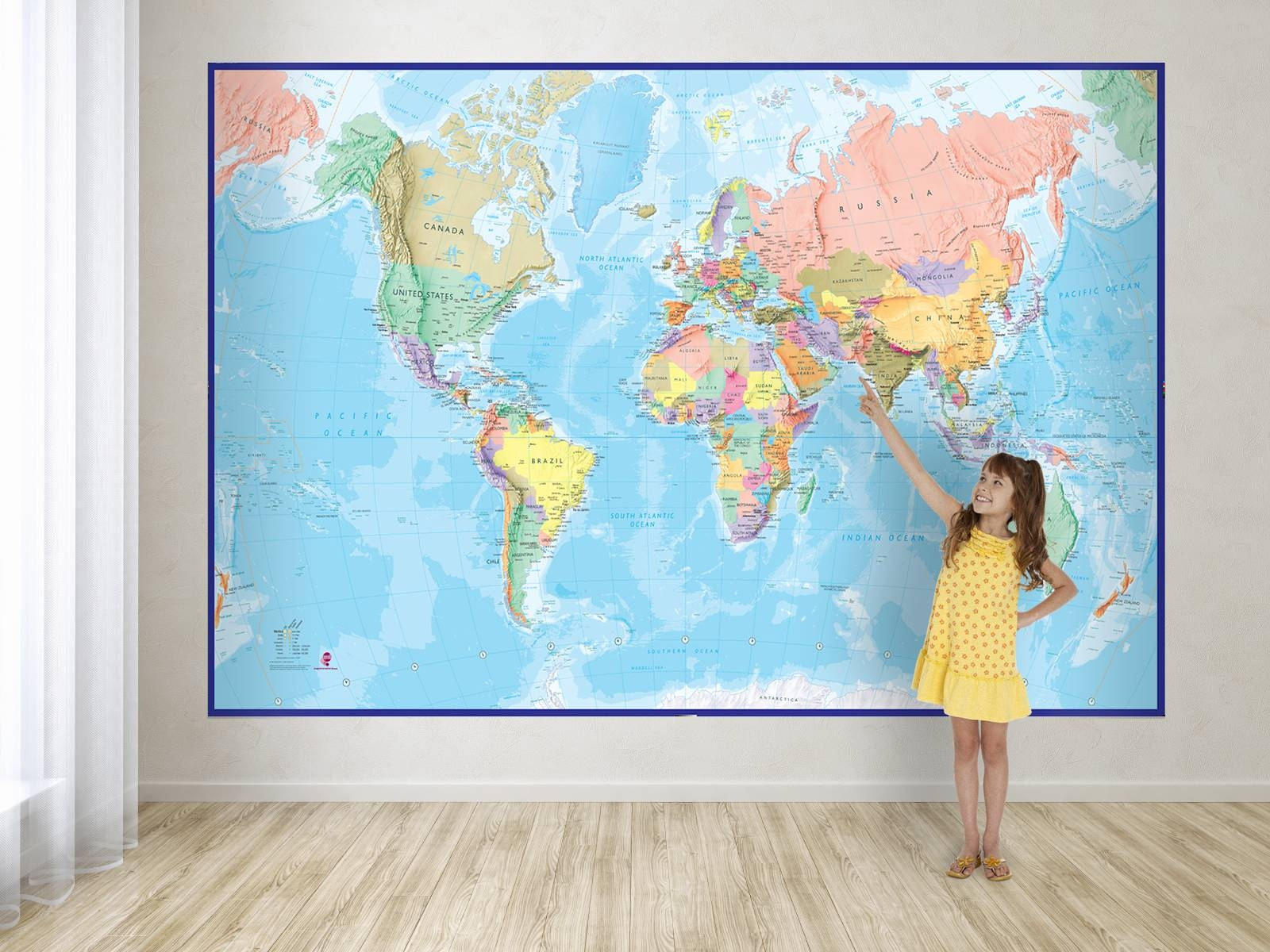 Image Gallery of Large World Map Wall Art (View 18 of 20 Photos)