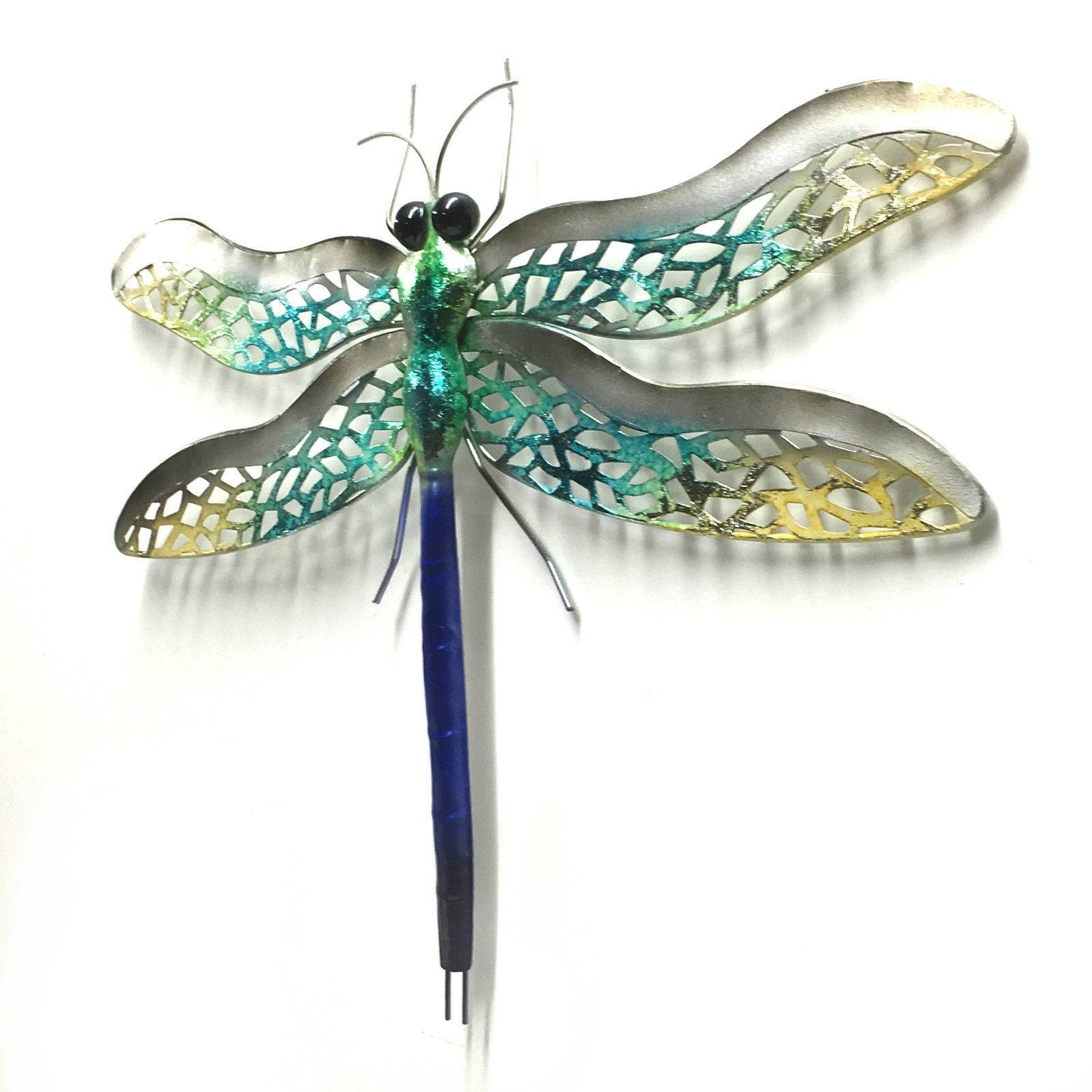 Dragonfly Metal Wall Art Hanging Iron Ornament Garden Sculpture Regarding Most Popular Dragonfly Metal Wall Art (View 4 of 20)