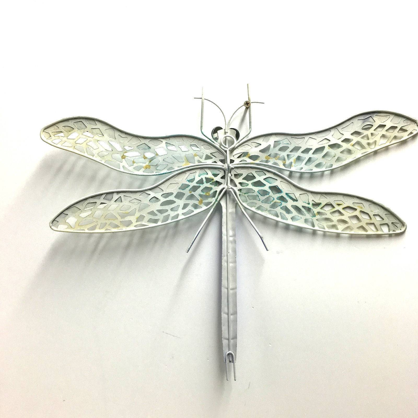 Dragonfly Metal Wall Art Hanging Iron Ornament Garden Sculpture Throughout Most Popular Dragonfly Metal Wall Art (View 5 of 20)